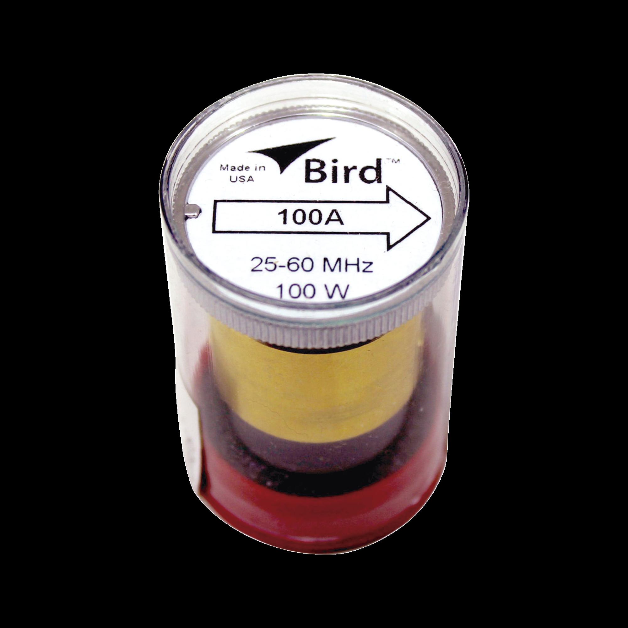 Elemento de 100 Watt en linea 7/8 para Wattmetro BIRD 43 en Rango de Frecuencia de 25 a 60 MHz.