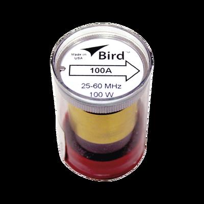 """Elemento de 100 Watt en linea 7/8"""" para Wattmetro BIRD 43 en Rango de Frecuencia de 25 a 60 MHz."""