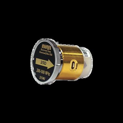 """Elemento de 25 Watt en linea 7/8"""" para Wattmetro BIRD 43 en Rango de Frecuencia de 200 a 500 MHz."""