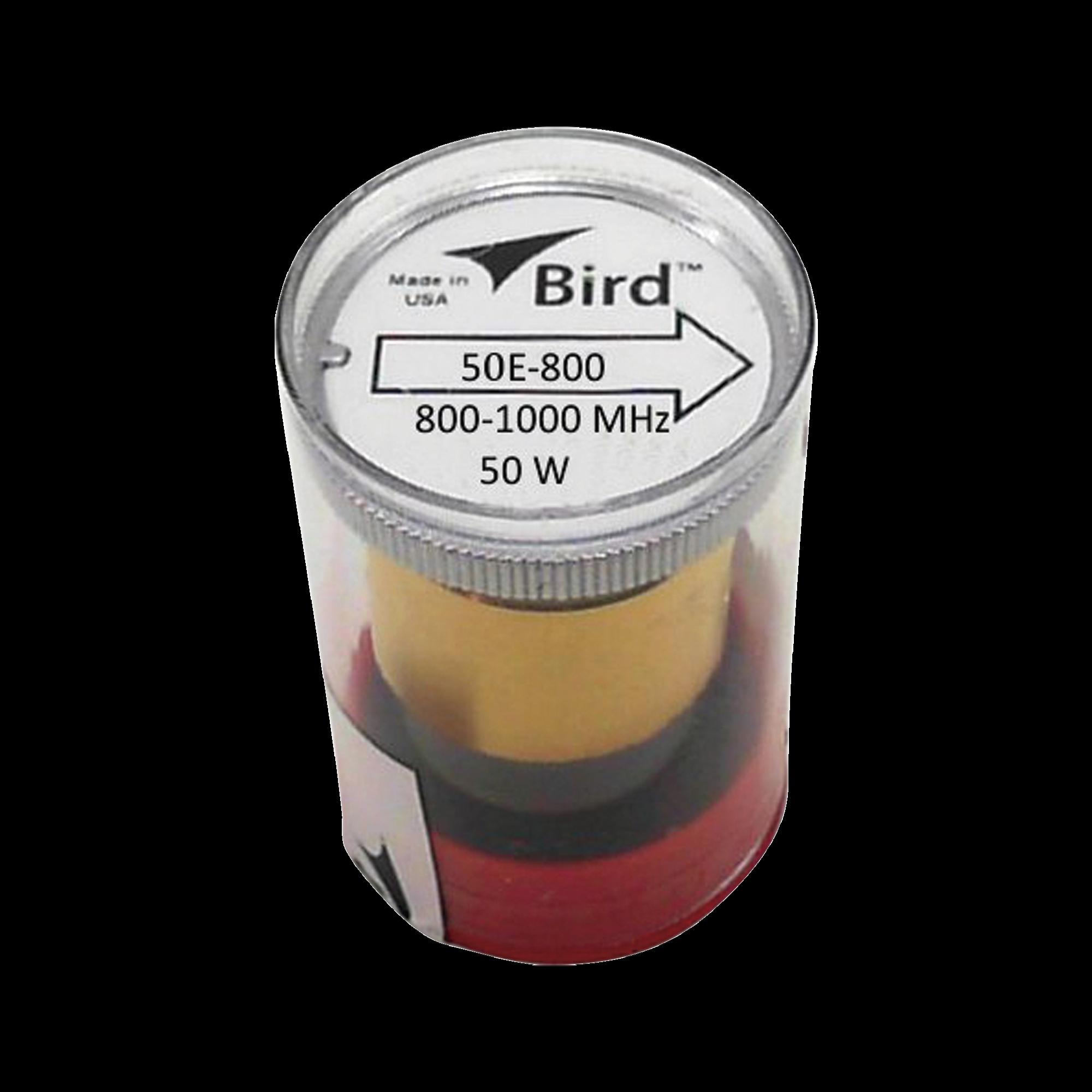 Elemento de 50 Watt en linea 7/8 para Wattmetro BIRD 43 en Rango de Frecuencia de 800 a 1000 MHz.