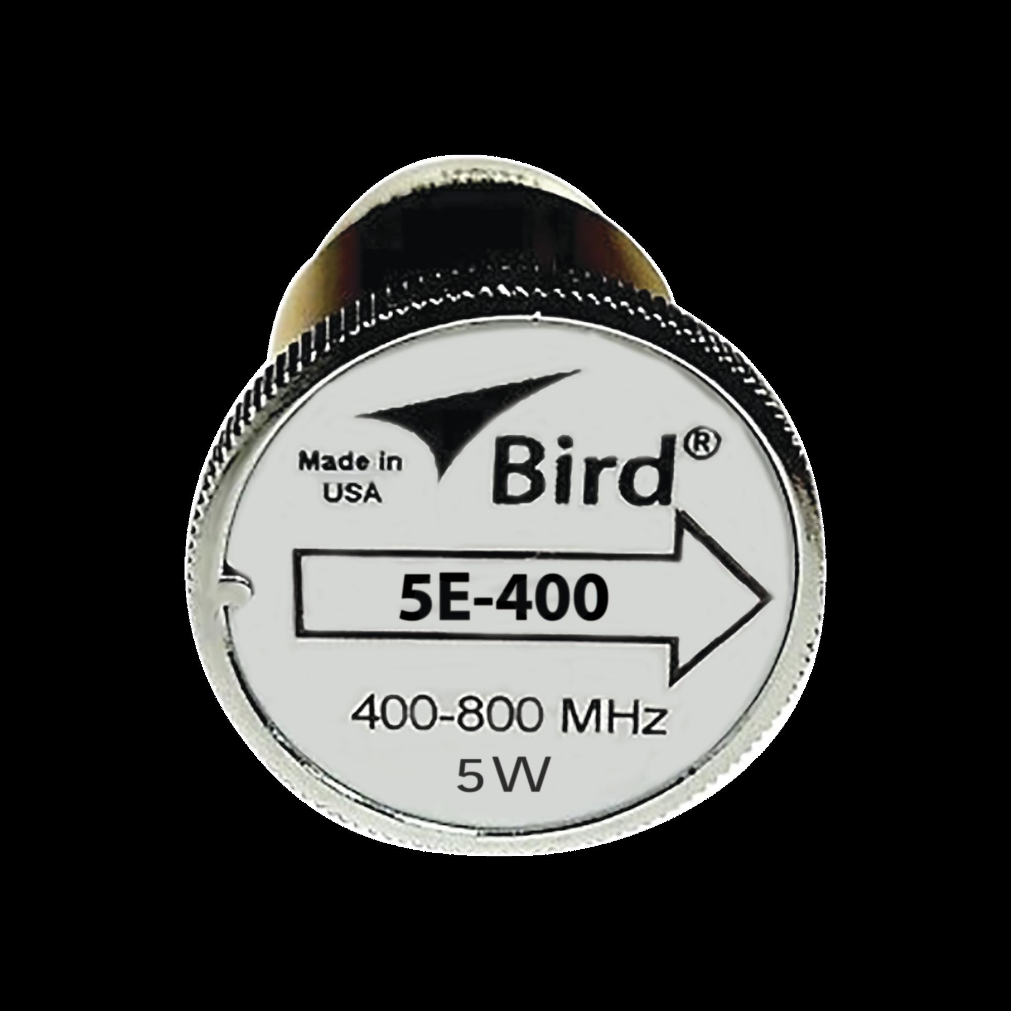 Elemento de 5 Watt en linea 7/8 para Wattmetro BIRD 43 en Rango de Frecuencia de 400 a 800 MHz.