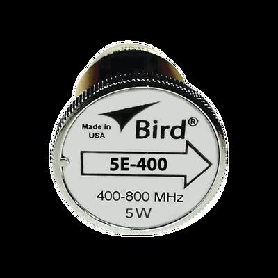 """Elemento de 5 Watt en linea 7/8"""" para Wattmetro BIRD 43 en Rango de Frecuencia de 400 a 800 MHz."""