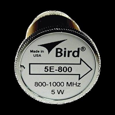 """Elemento de 5 Watt en linea 7/8"""" para Wattmetro BIRD 43 en Rango de Frecuencia de 800 a 1000 MHz."""