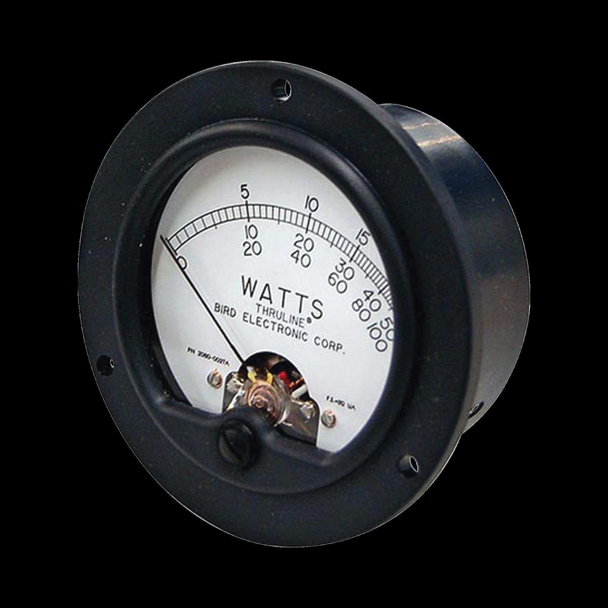 Carátula-Medidor de Reemplazo para Wattmetro BIRD 43.