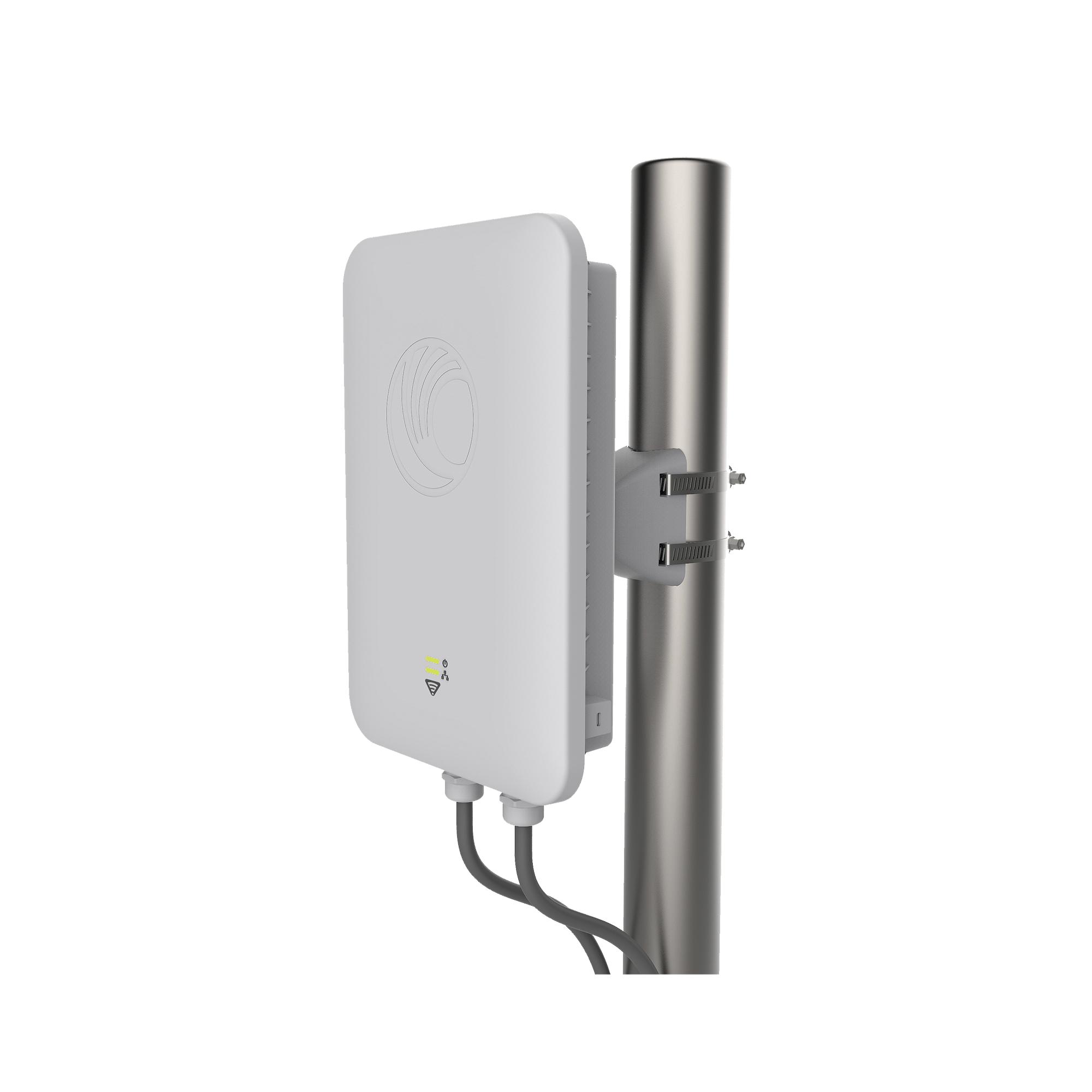 Access Point WiFi Industrial cnPilot e500 de alta capacidad para exterior, IP67, doble banda, antena de 30? y puerto PoE secundario (PL-E500USCA-RW)