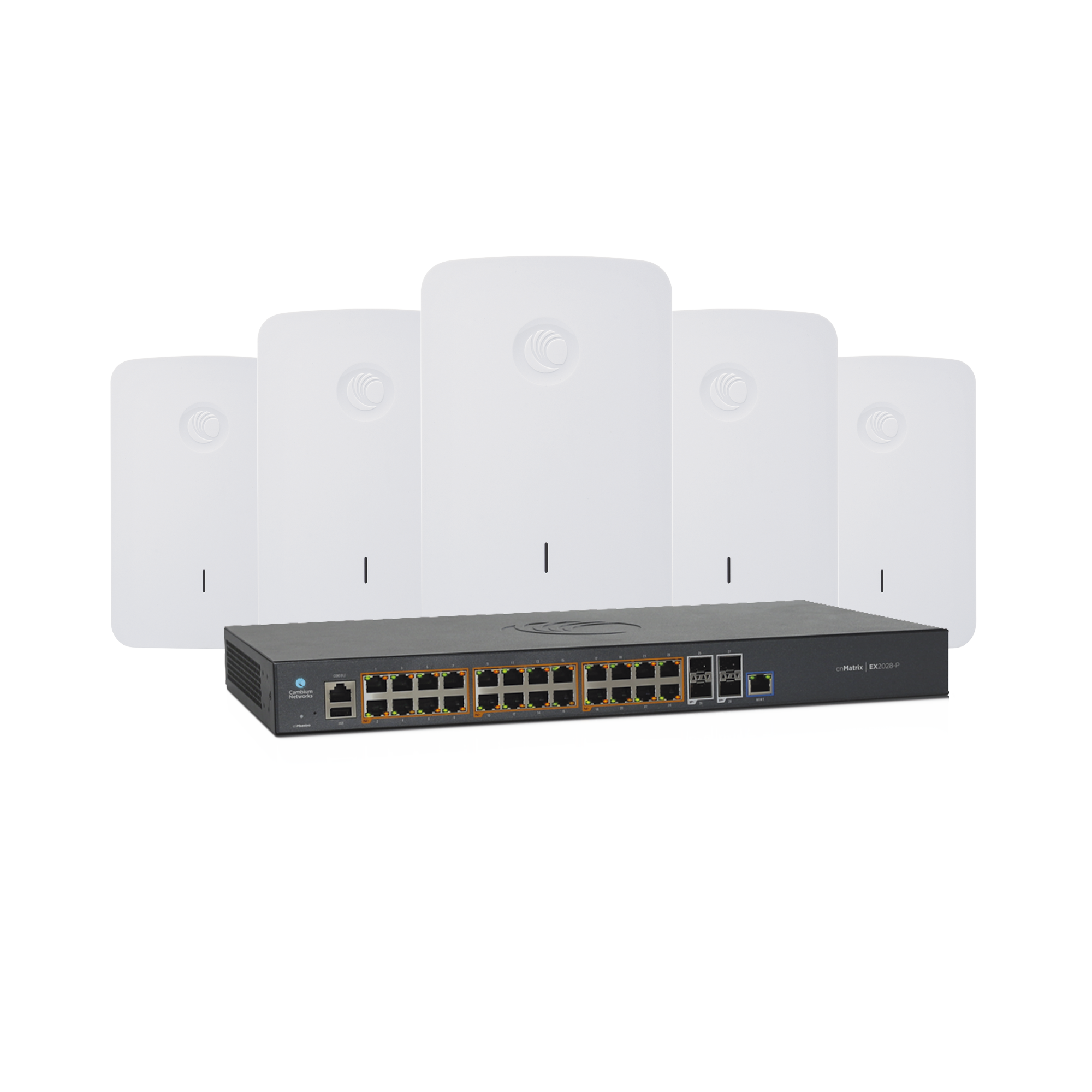 Kit Wi-Fi Empresarial de 5 Access Point e425H y un switch PoE EX2028P