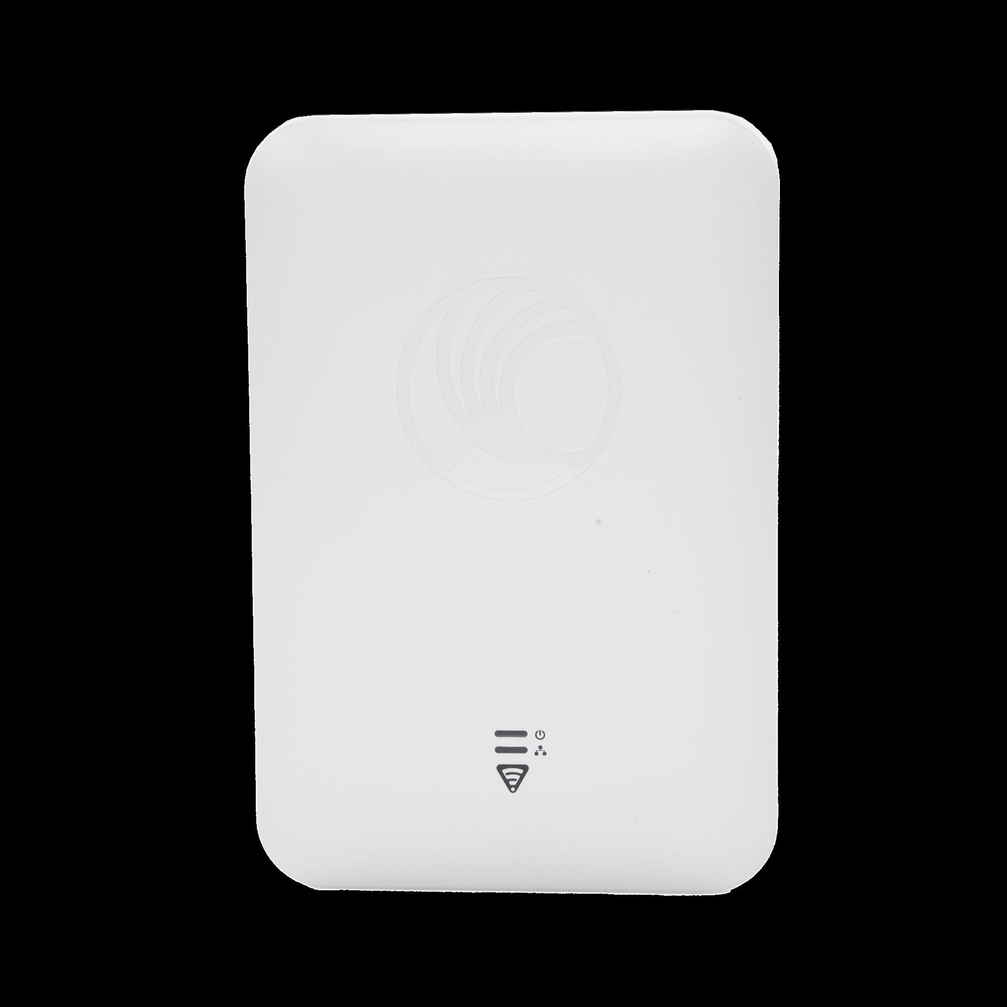 Access Point WiFi cnPilot e501S para exterior, IP67 grado industrial, Filtros para coexistencia con redes LTE, doble banda, antena sectorial 90-120 grados y puerto PoE secundario
