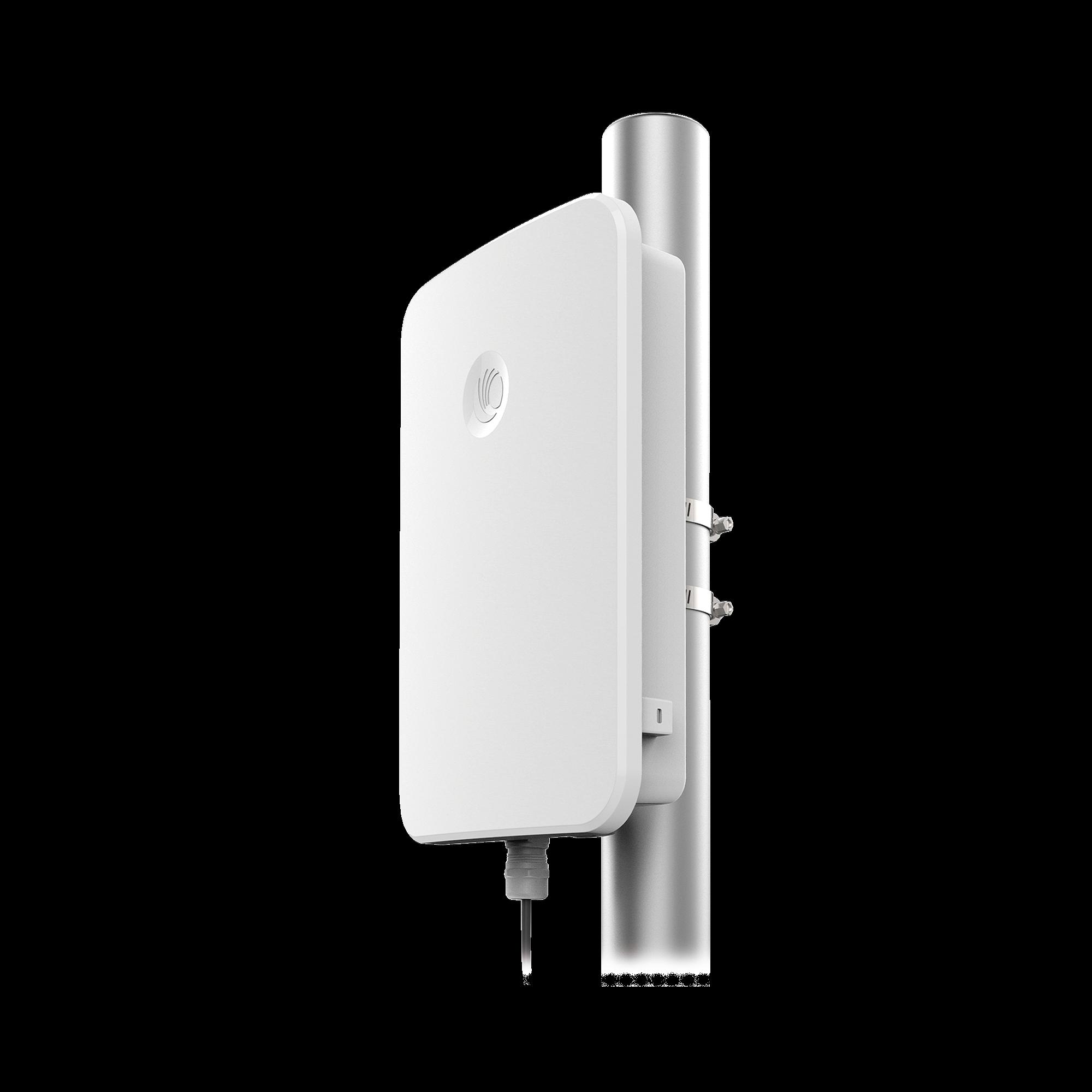 Access Point WiFi cnPilot e700 para alta densidad de usuarios, para exterior, IP-67 grado industrial, para temperaturas extremas, doble banda, antena Beamforming omnidireccional
