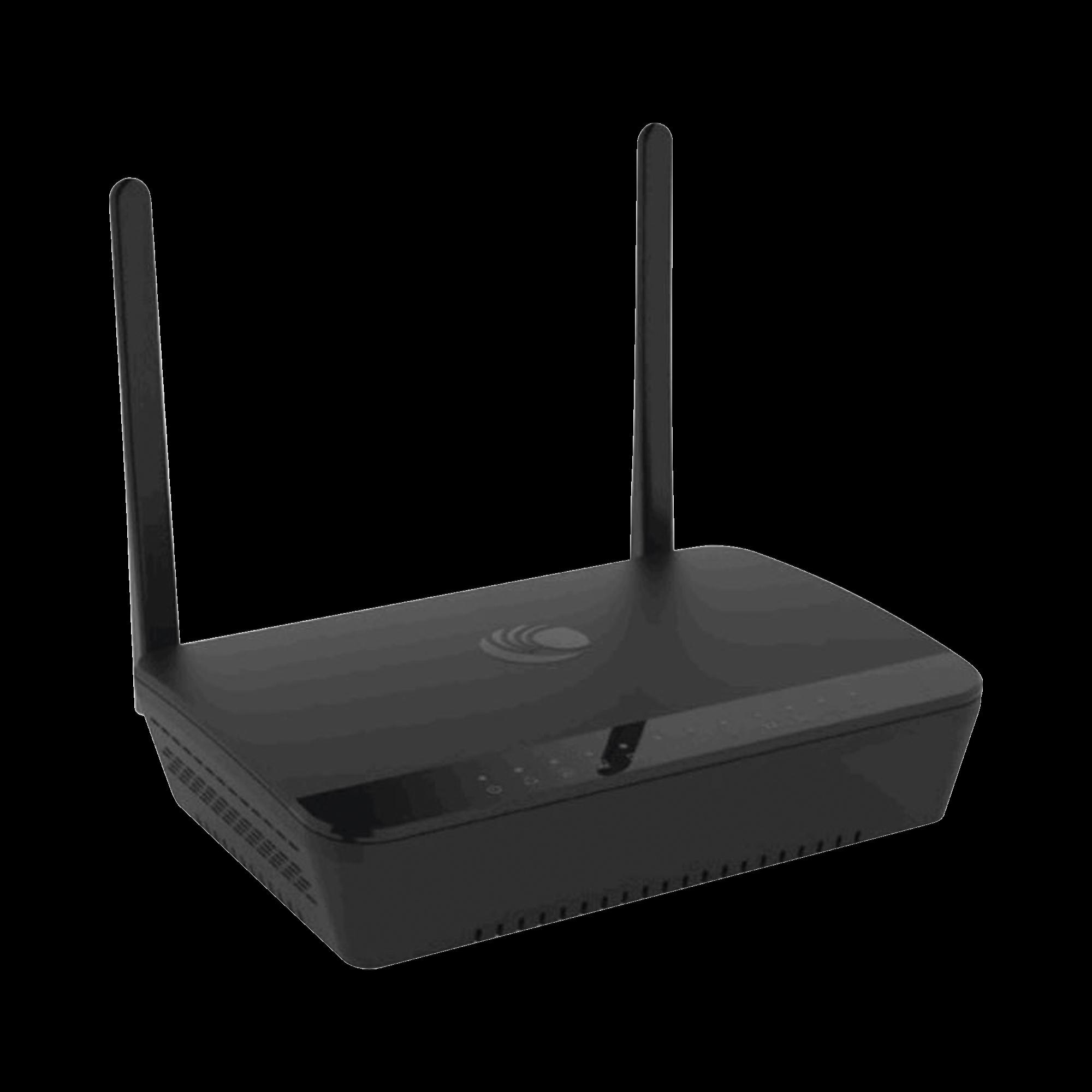 Router residencial cnPilot r195P de alta cobertura, doble banda, 2x puertos ATA, 1x puerto WAN con salida PoE para alimentar suscriptor Cambium