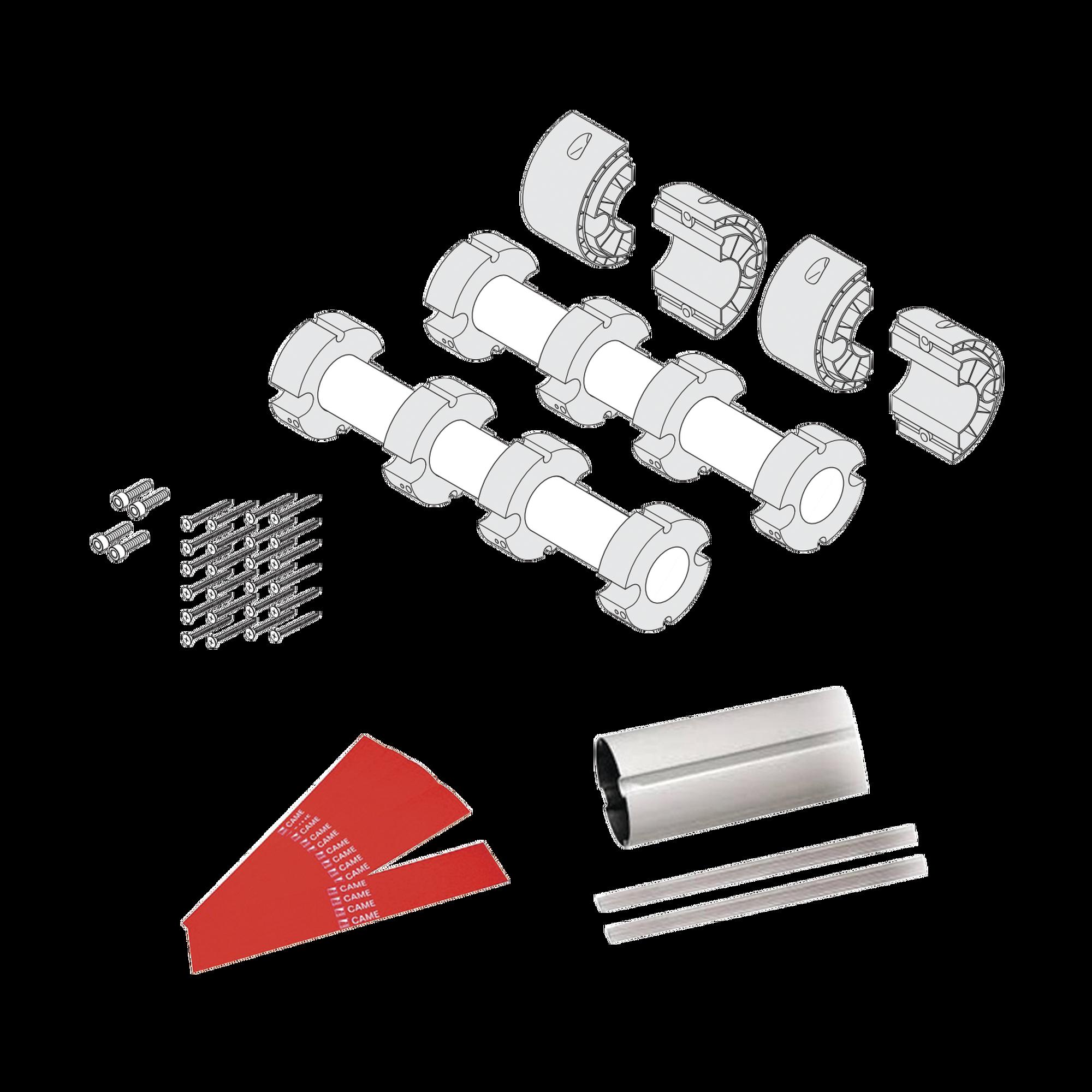 Kit de mástil para barreras GARD8 / Incluye 2 secciones tubulares de 4m / Incluye tiras reflejantes / Incluye unión central