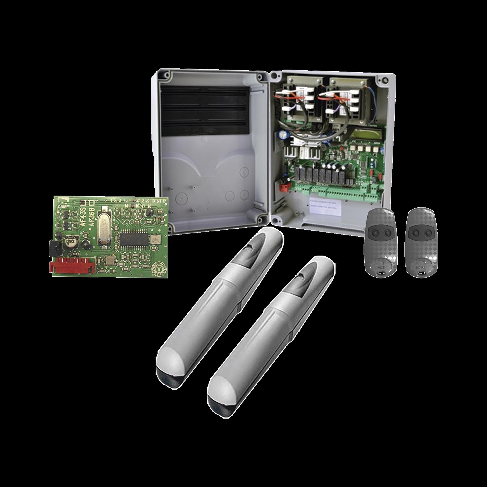 Kit de operadores AXO 3024 Para puertas Abatibles de hasta 3 Metros y 500 Kg de peso por hoja