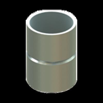 "Cople 1"" (25mm) sin tornillo pared delgada galvanizado etiqueta verde"