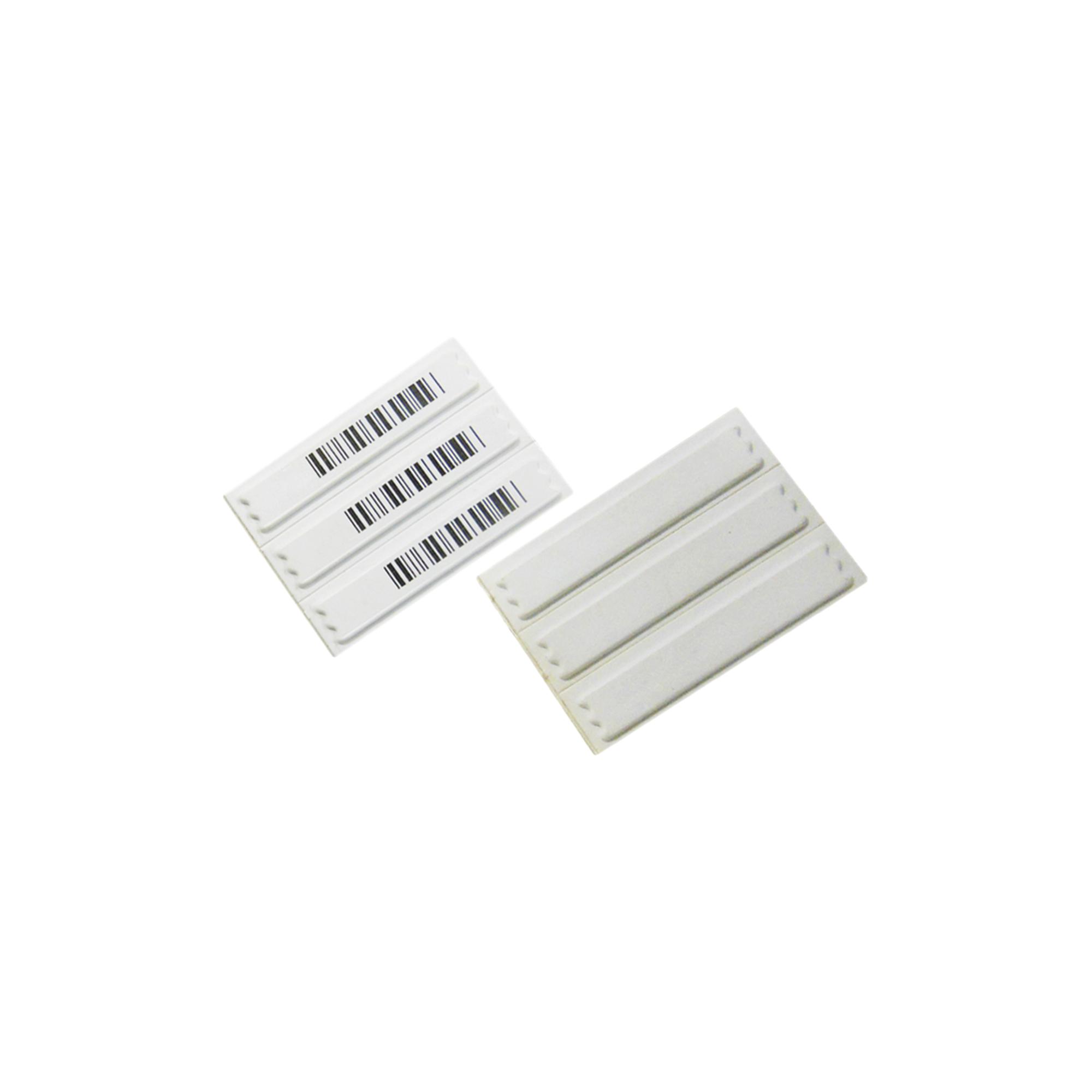 Paquete de 100 Etiquetas Adheribles / En plástico  / AM (Acustic Magnetic) / 58 KHz