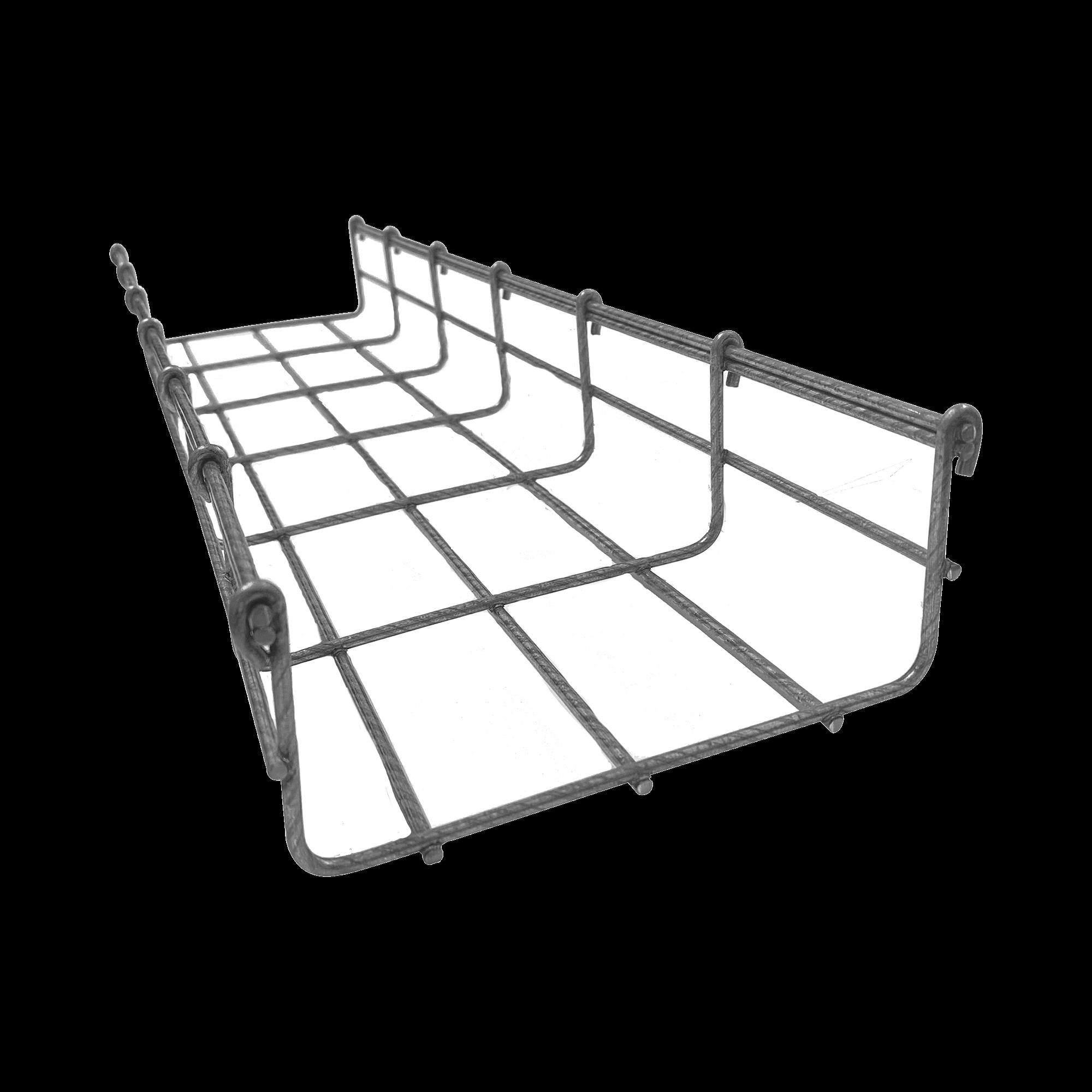 Charola tipo malla 54/150 mm BIMETáLICA para Instalación en Exterior o Interior, Extrema Resistencia y Durabilidad. Hasta 129 cables Cat6 (Tramo de 3 metros).