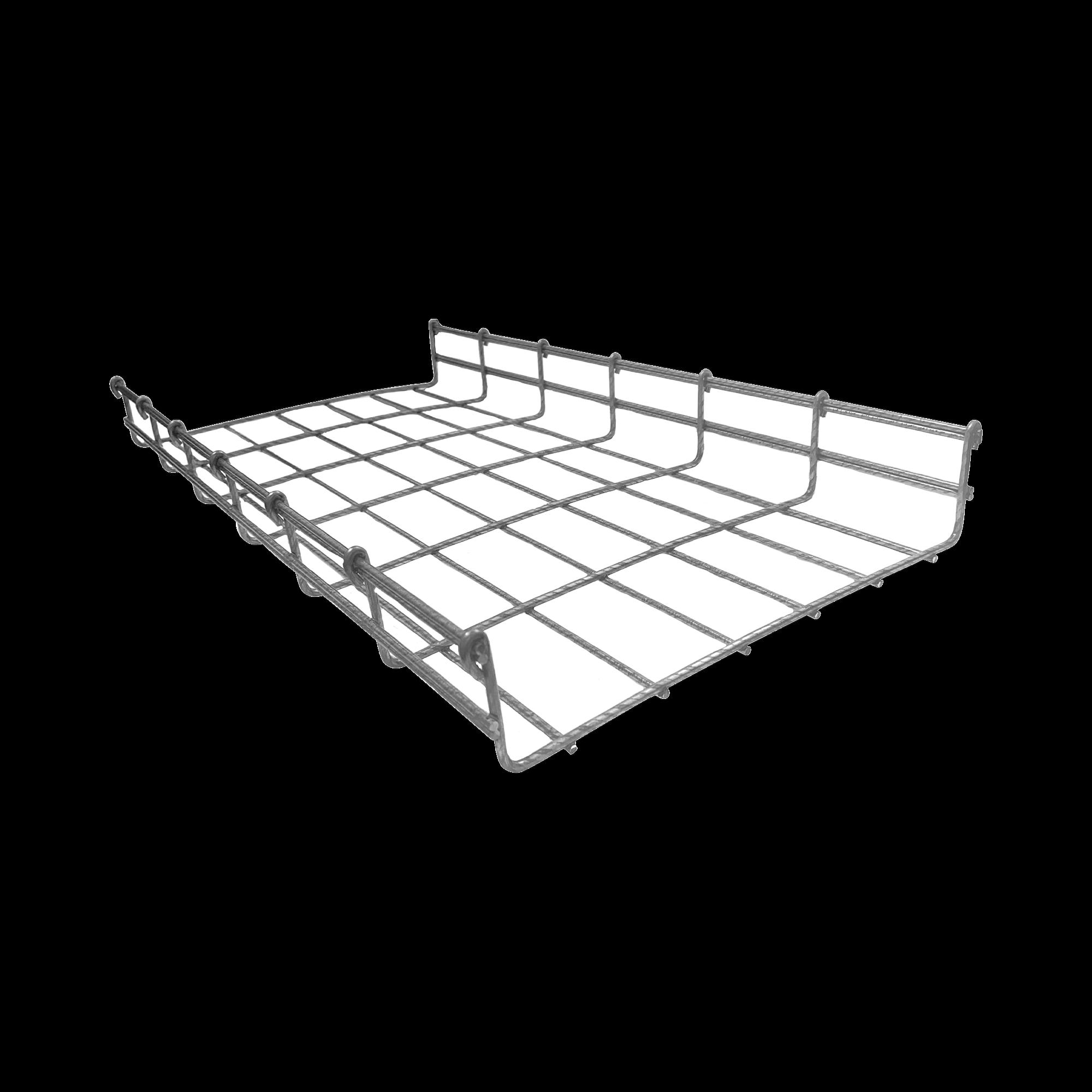 Charola tipo Malla 54/300 mm BIMETáLICA para Instalación en Exterior o Interior, Extrema Resistencia y Durabilidad. Hasta 258 cables Cat6 (Tramo de 3 metros)