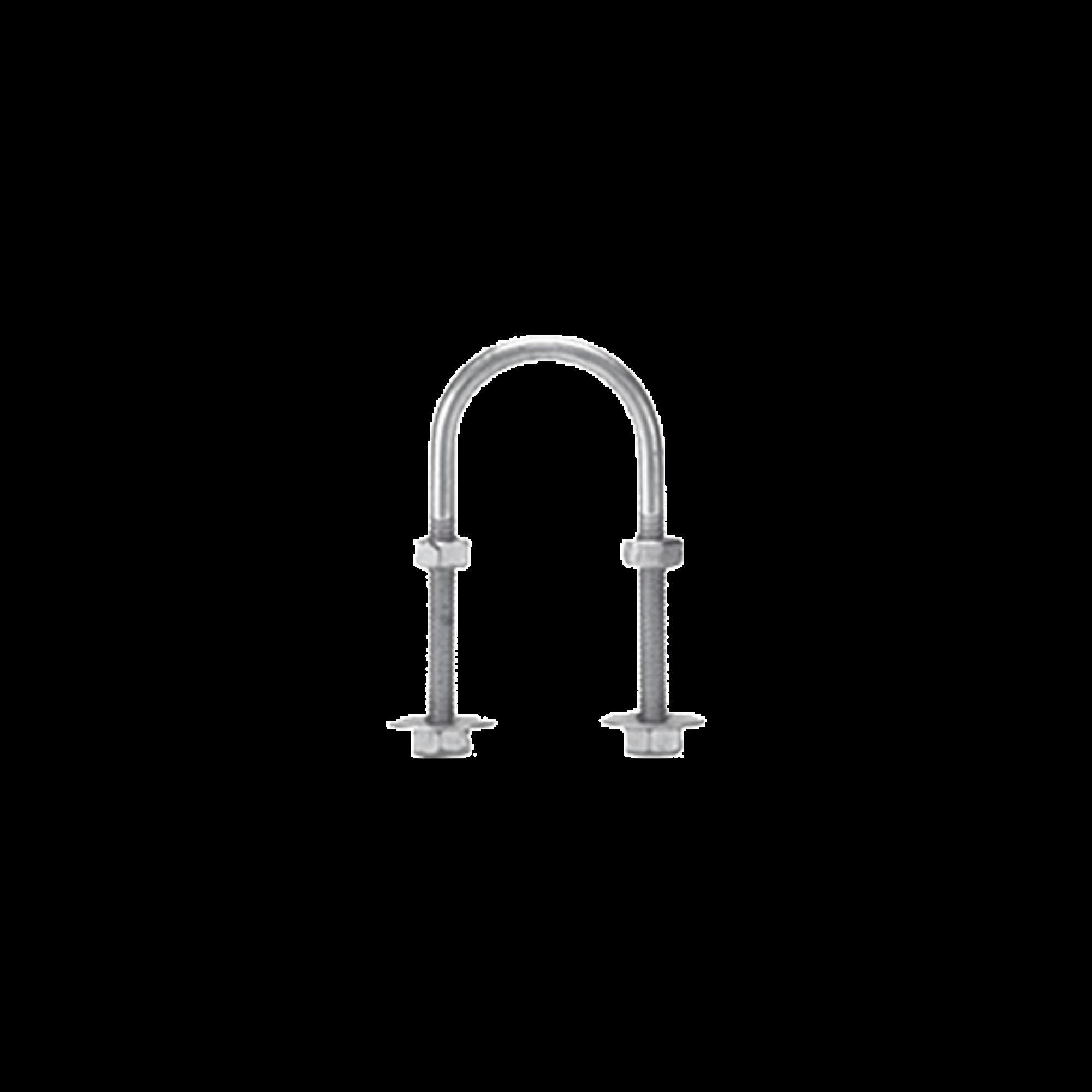 Abrazadera tipo U de 1 1/2, con acabado Electro Zinc, no incluye tuercas y arandelas