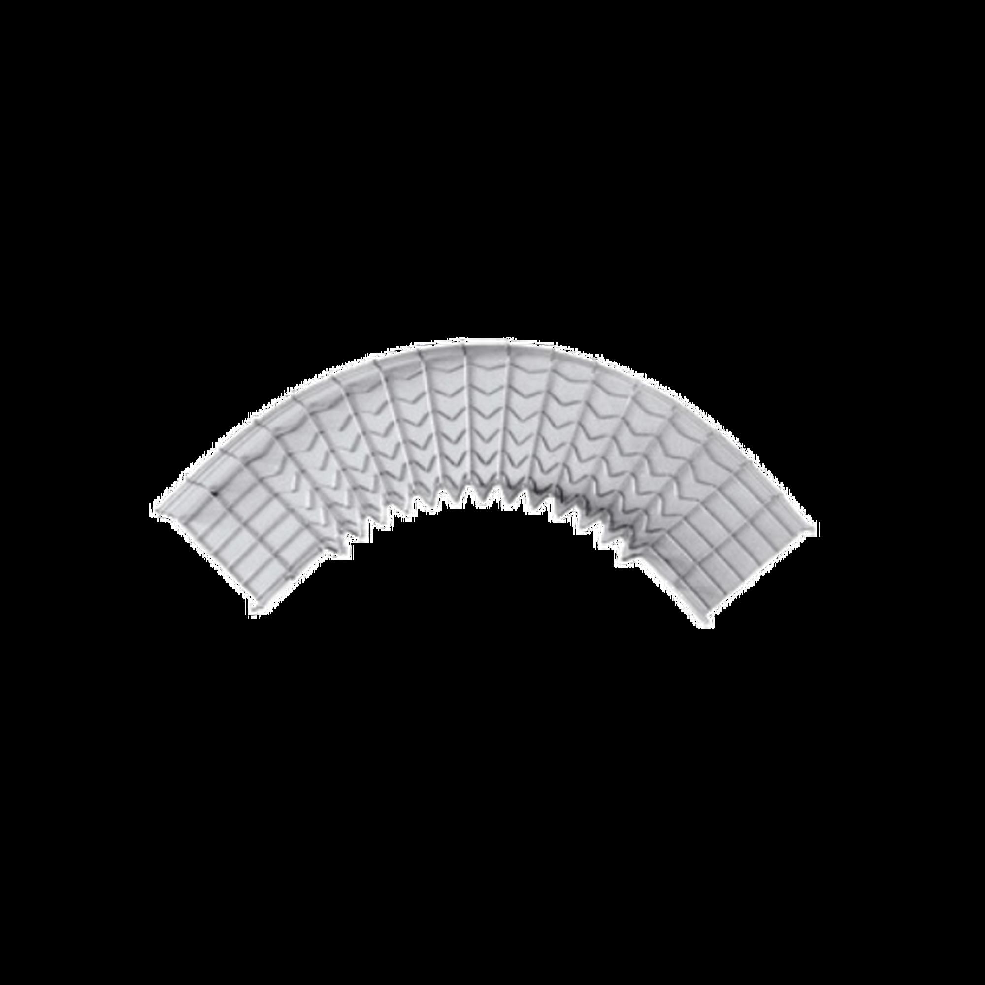 Curva pre-fabricada de 90 grados; 54/150 mm de ancho
