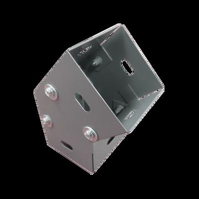 Derivación codo horizontal de 45 grados 100 X 100 mm, fabricado en lámina de acero al carbón