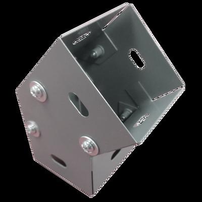 Derivación codo horizontal de 45 grados 65 X 65 mm, fabricado en lámina de acero al carbón