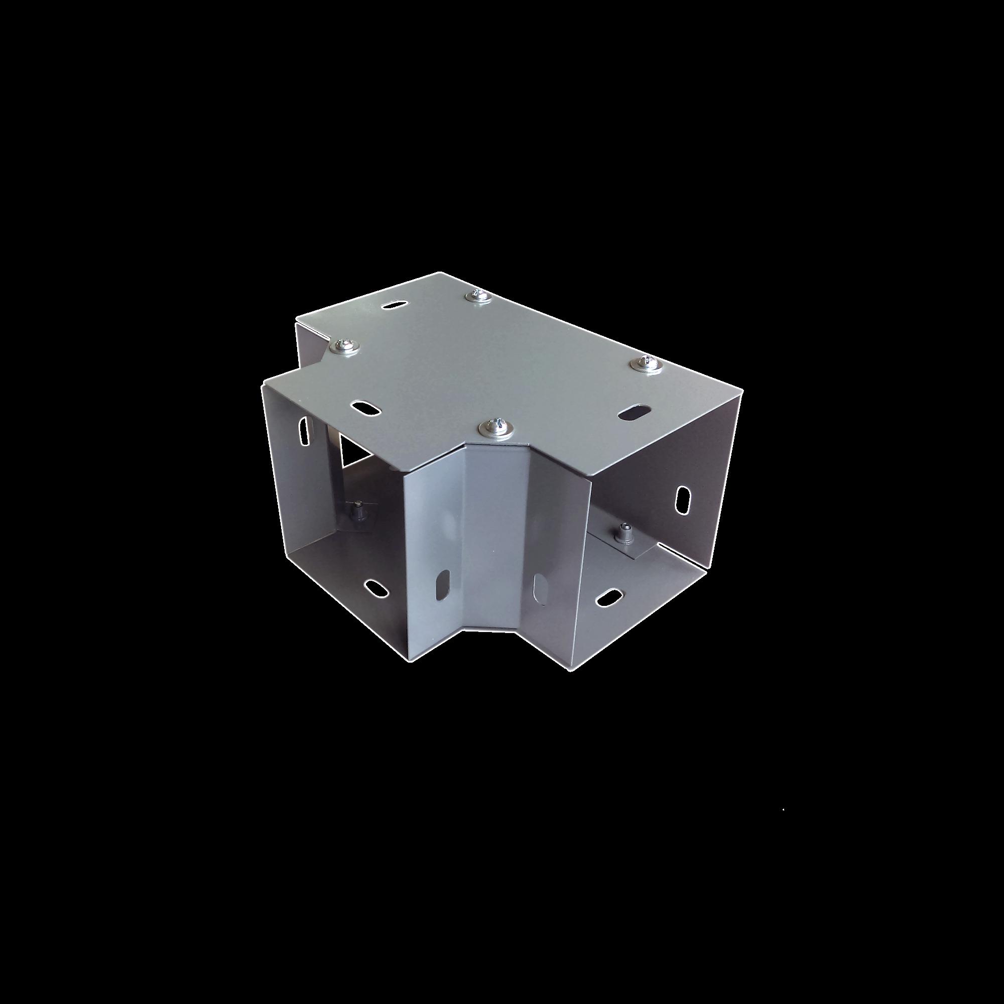 Derivación T horizontal 100 x 100 mm, fabricado en lámina de acero al carbón