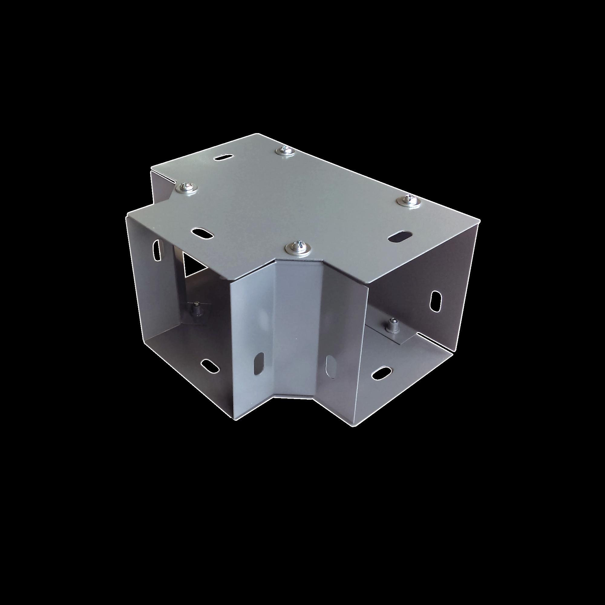 Derivación T horizontal 65 x 65 mm, fabricado en lámina de acero al carbón