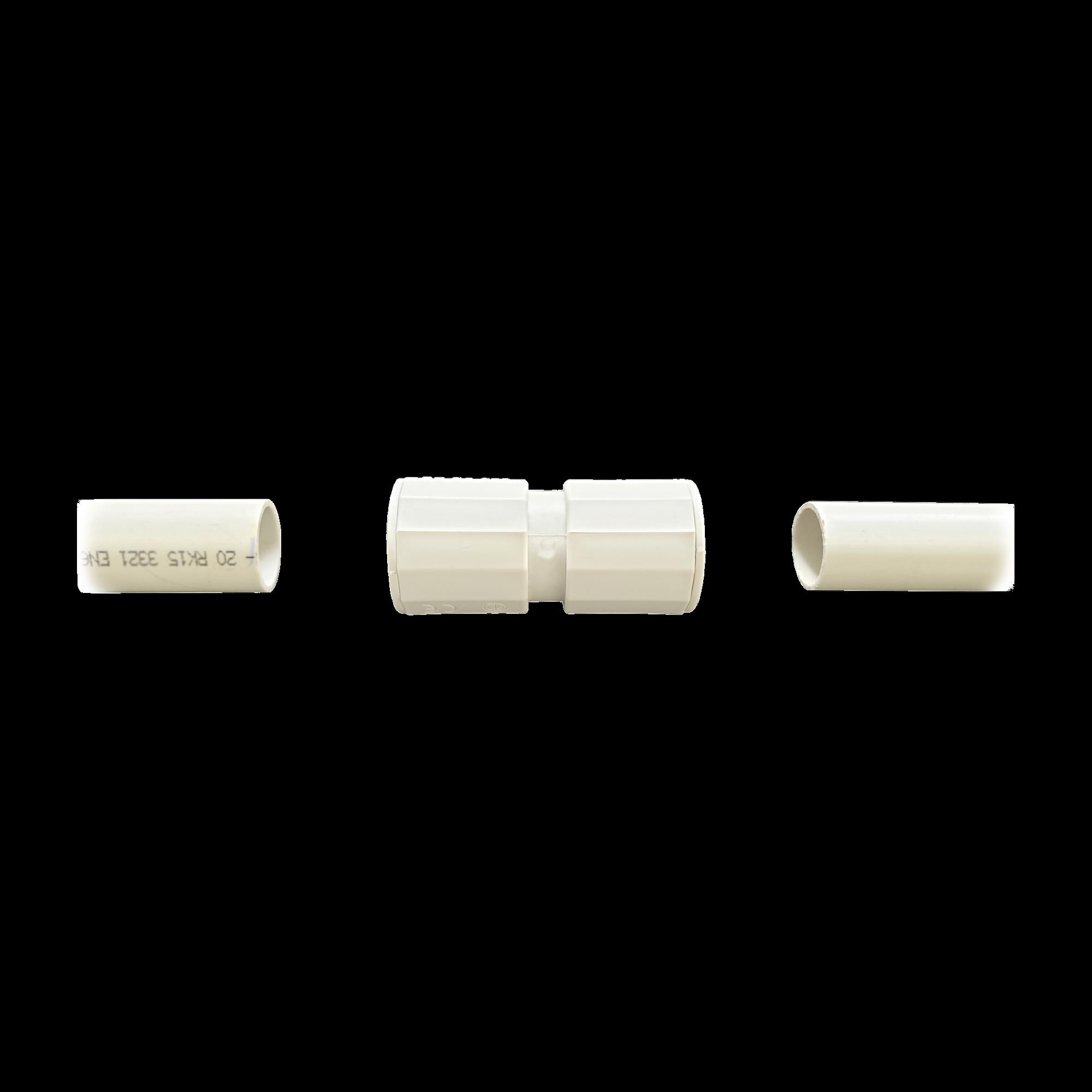 Manguito / Cople Morbidx IP67 libre de halógenos para unir tubería rígida de 20 mm (3/4) permite una instalación hermética no necesita pegamento
