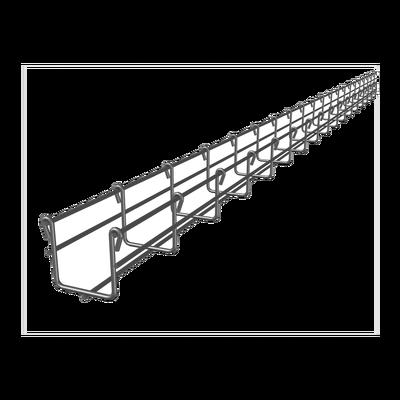 Charola tipo malla 66/50 mm, con acabado Electro Zinc, hasta 52 cables Cat6,  tramo 3 m