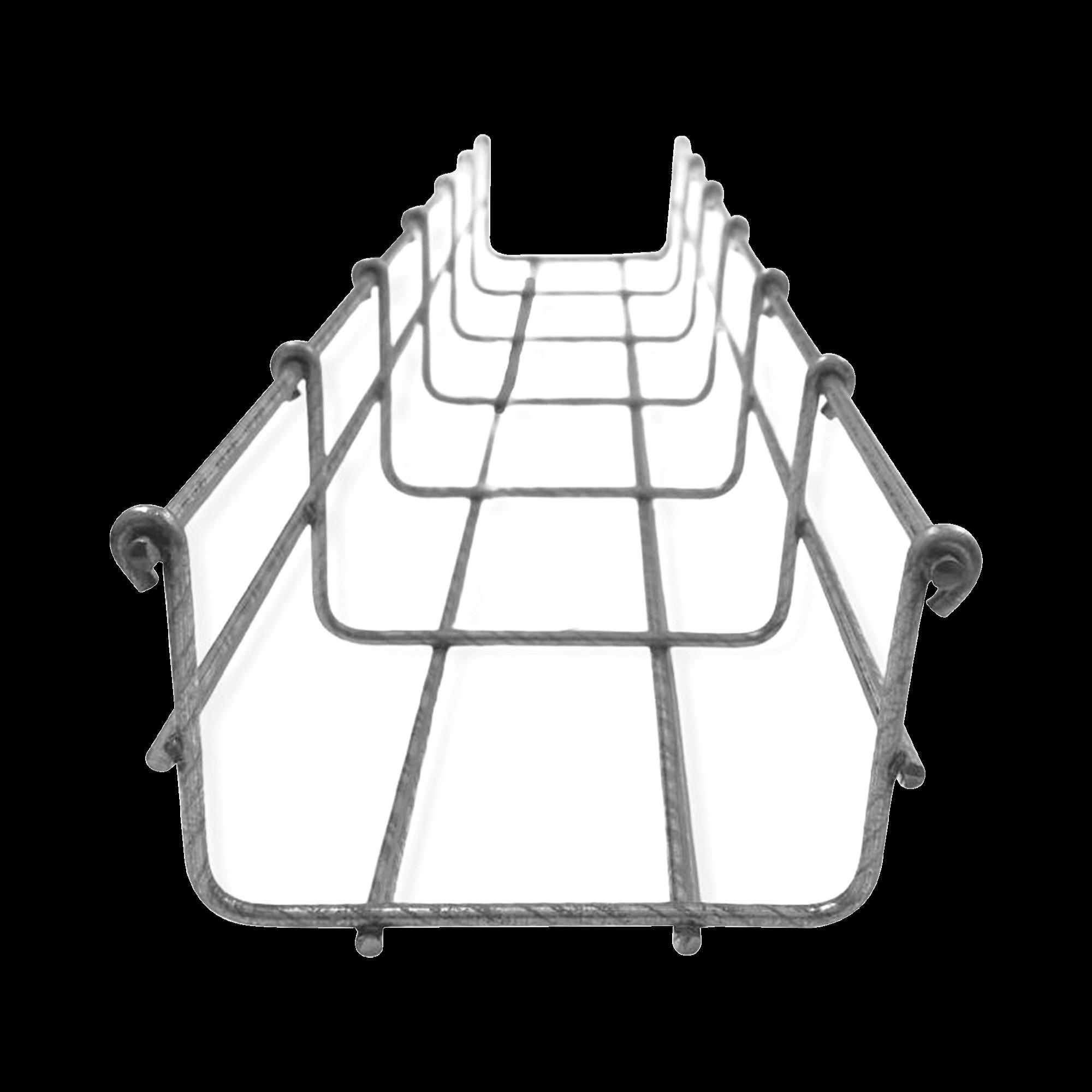 Charola tipo malla 66/100 mm BIMETáLICA para Instalación en Exterior o Interior, Extrema Resistencia y Durabilidad. Hasta 105 cables Cat6 (Tramo de 3 metros)