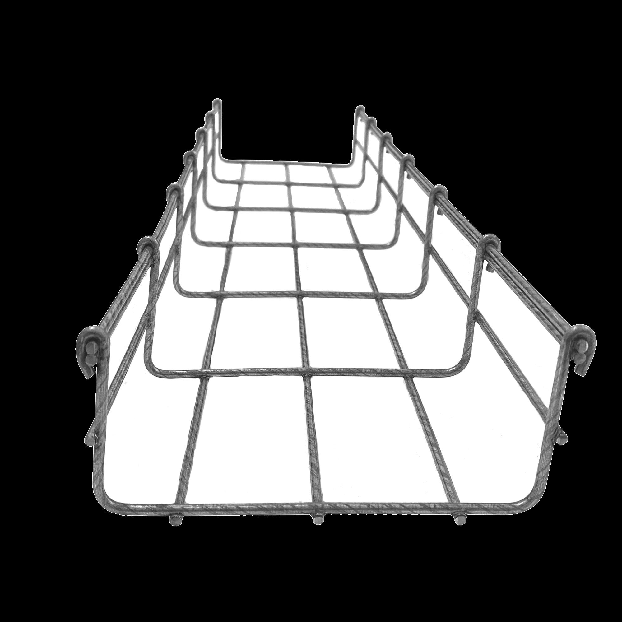 Charola tipo malla 66/150 mm BIMETáLICA para Instalación en Exterior o Interior, Extrema Resistencia y Durabilidad. Hasta 157 cables Cat6 (Tramo de 3 metros)