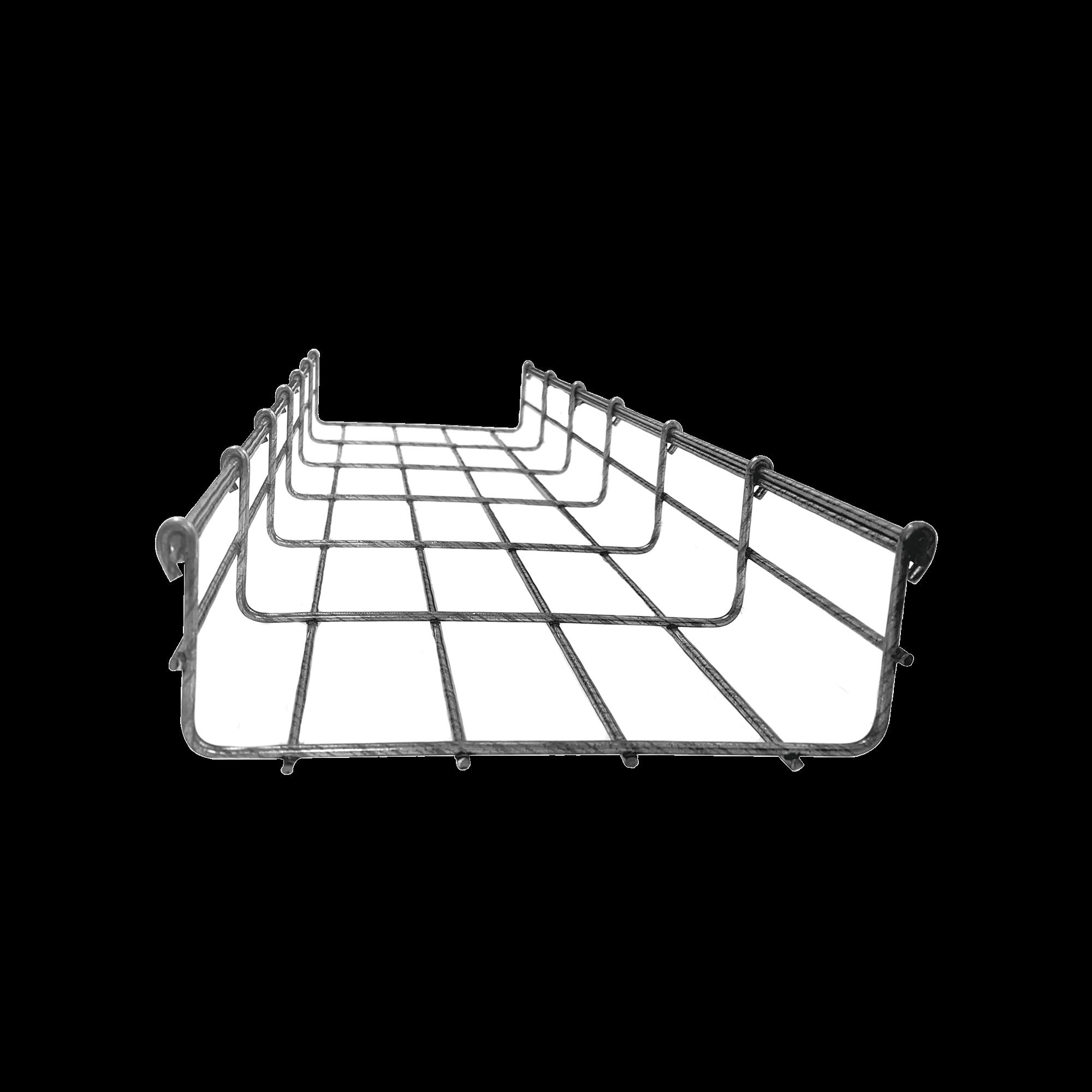 Charola tipo malla 66/200 mm BIMETáLICA para Instalación en Exterior o Interior, Extrema Resistencia y Durabilidad. Hasta 210 cables Cat6 (Tramo de 3 metros).