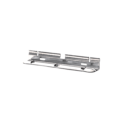 Clip automático para unir tramos de charolas, con acabado Electro Zinc