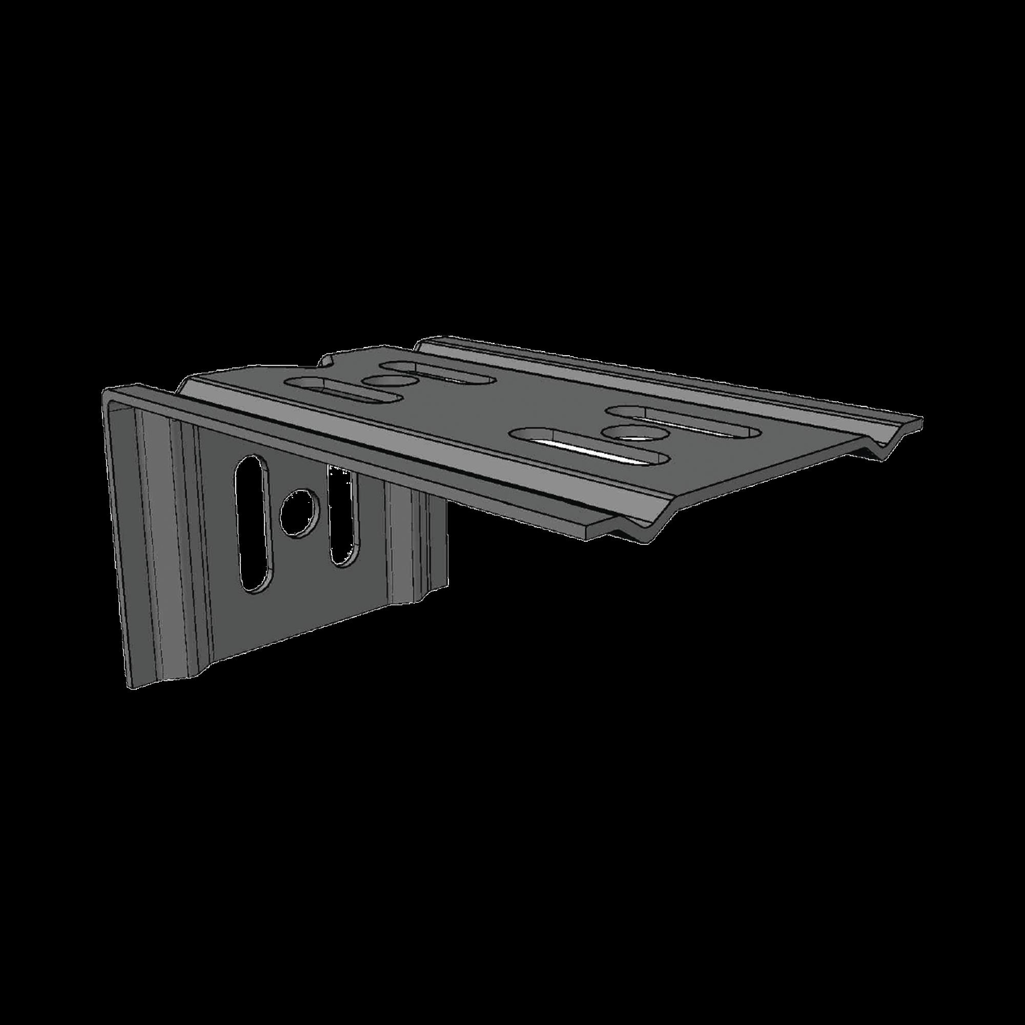 Ménsula económica MallaFils, para montaje en pared, para anchos de charola de 100 mm, con acabado electrozinc