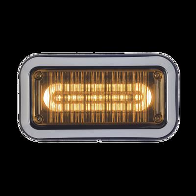 """Luz perimetral de advertencia Prizm II con bisel 7""""x 3"""", lente claro, LED color ámbar"""