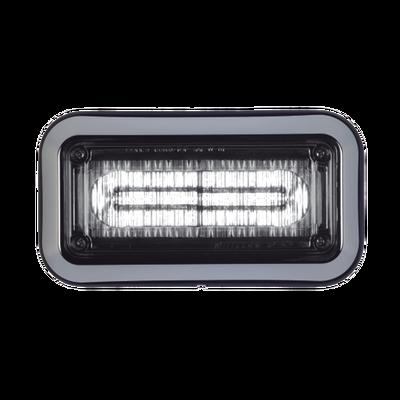 Luz d/ advertencia prizm ii c/ bizel 7x3 in lente claro color claro