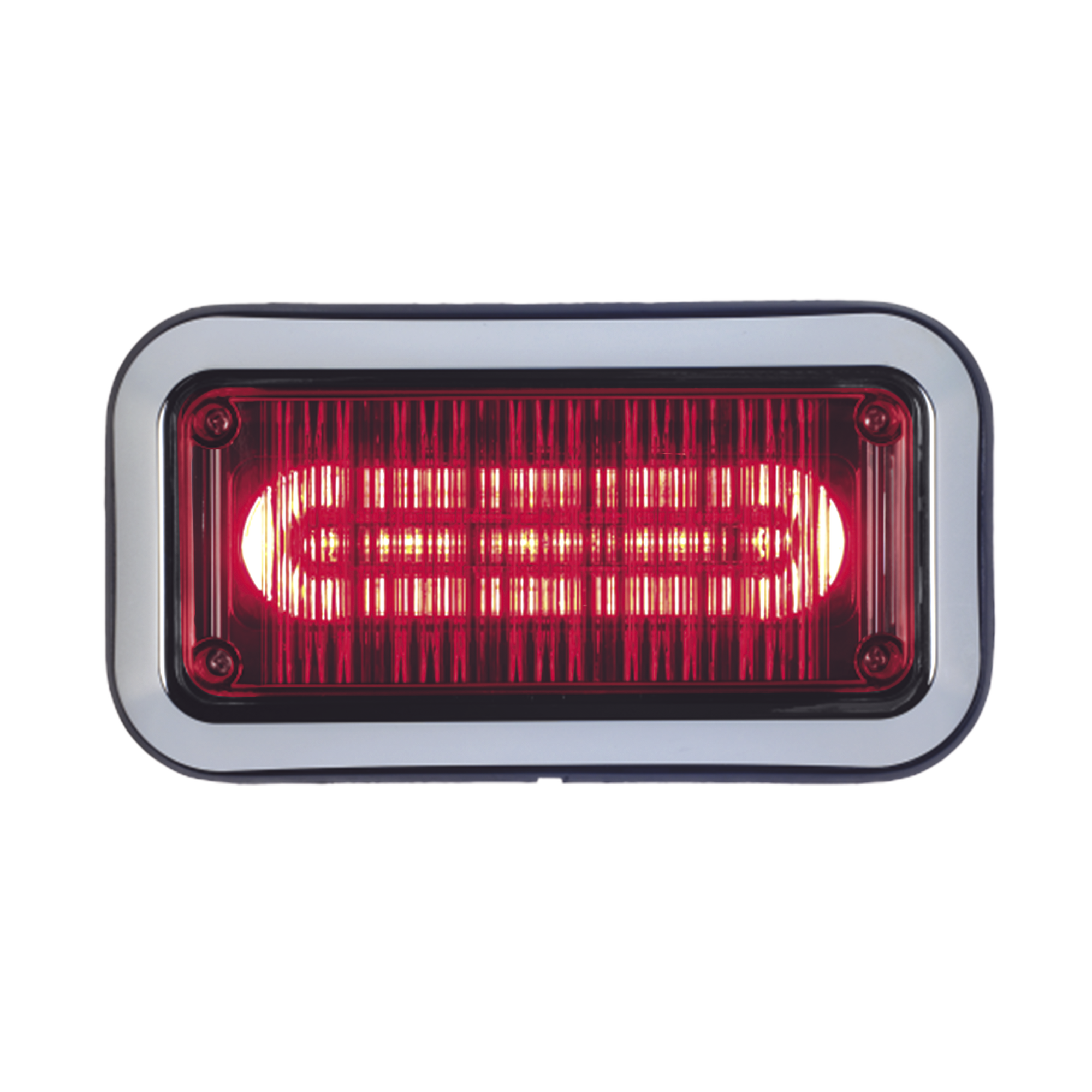 Luz perimetral de advertencia Prizm II con bisel 7x 3  lente claro, LED color rojo