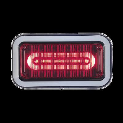 """Luz perimetral de advertencia Prizm II con bisel 7""""x 3""""  lente claro, LED color rojo"""