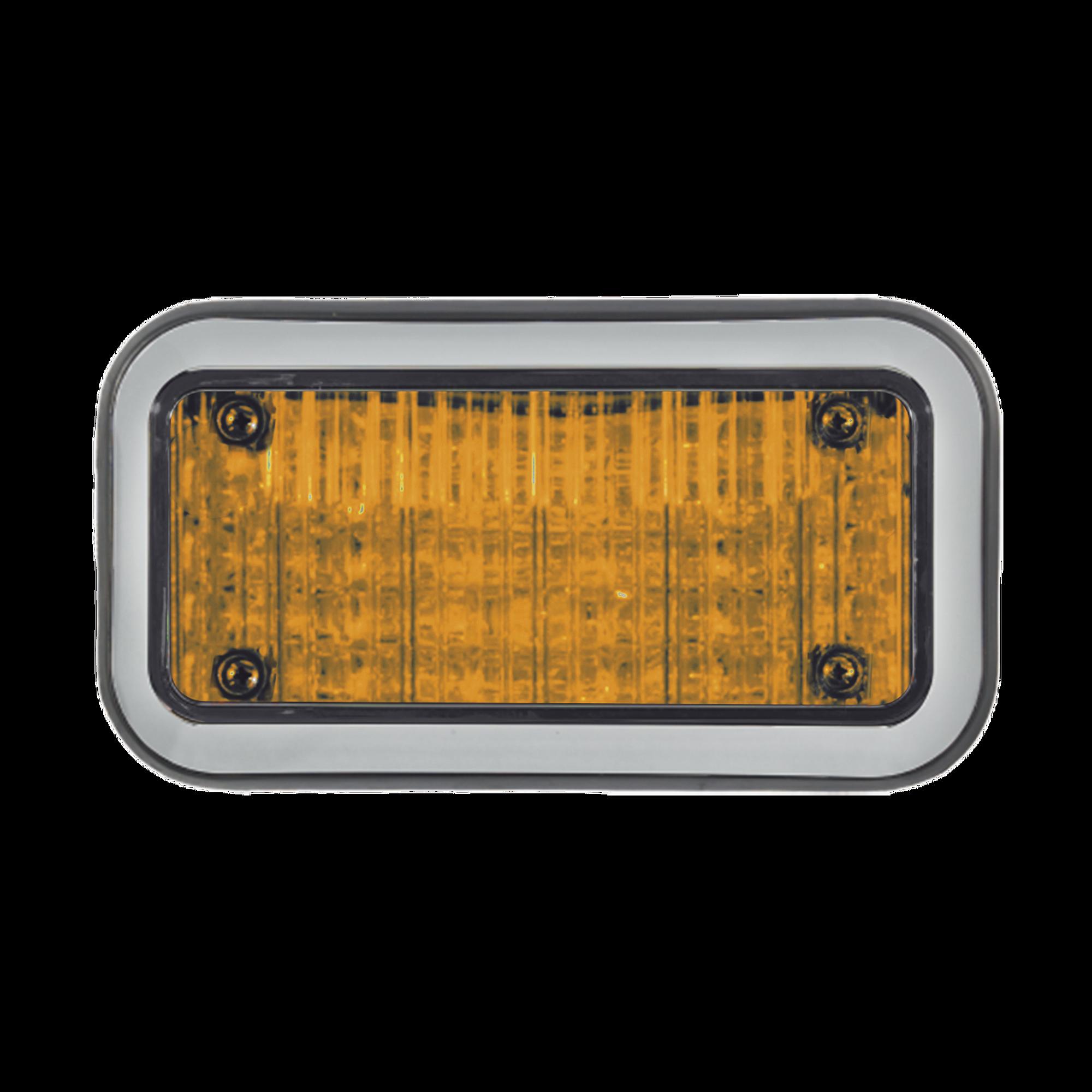 Luz Perimetral 3X7 y LED ambar, con bisel