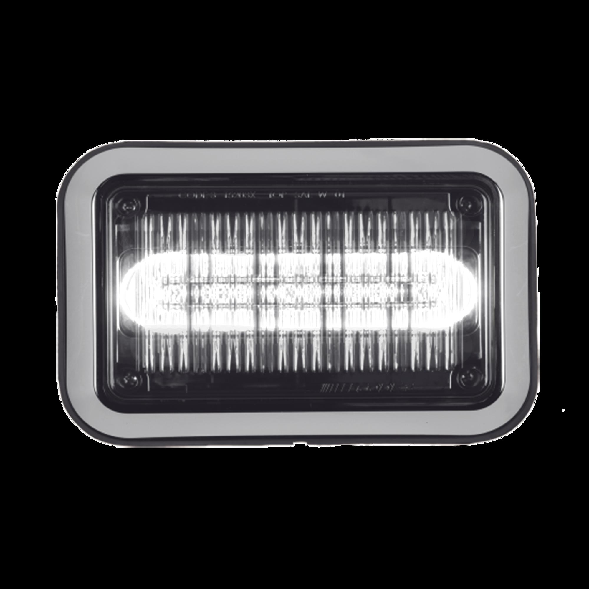 Luz perimetral LED PriZm ? II de 4x6 con bisel, lente transparente y color REF8, Claro