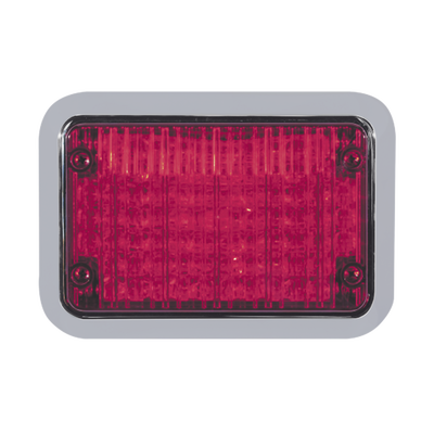 Luz perimetral LED roja 4x6 con bisel