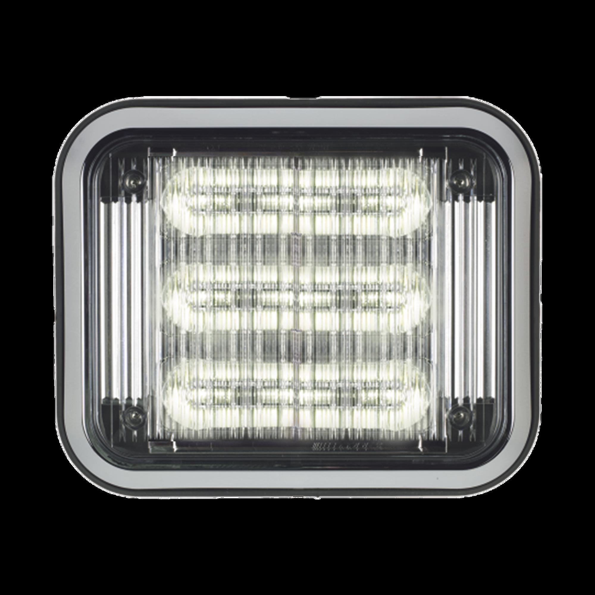 Luz perimetral LED PriZm ? II de 7x9 con bisel, lente de color y REF 8, claro