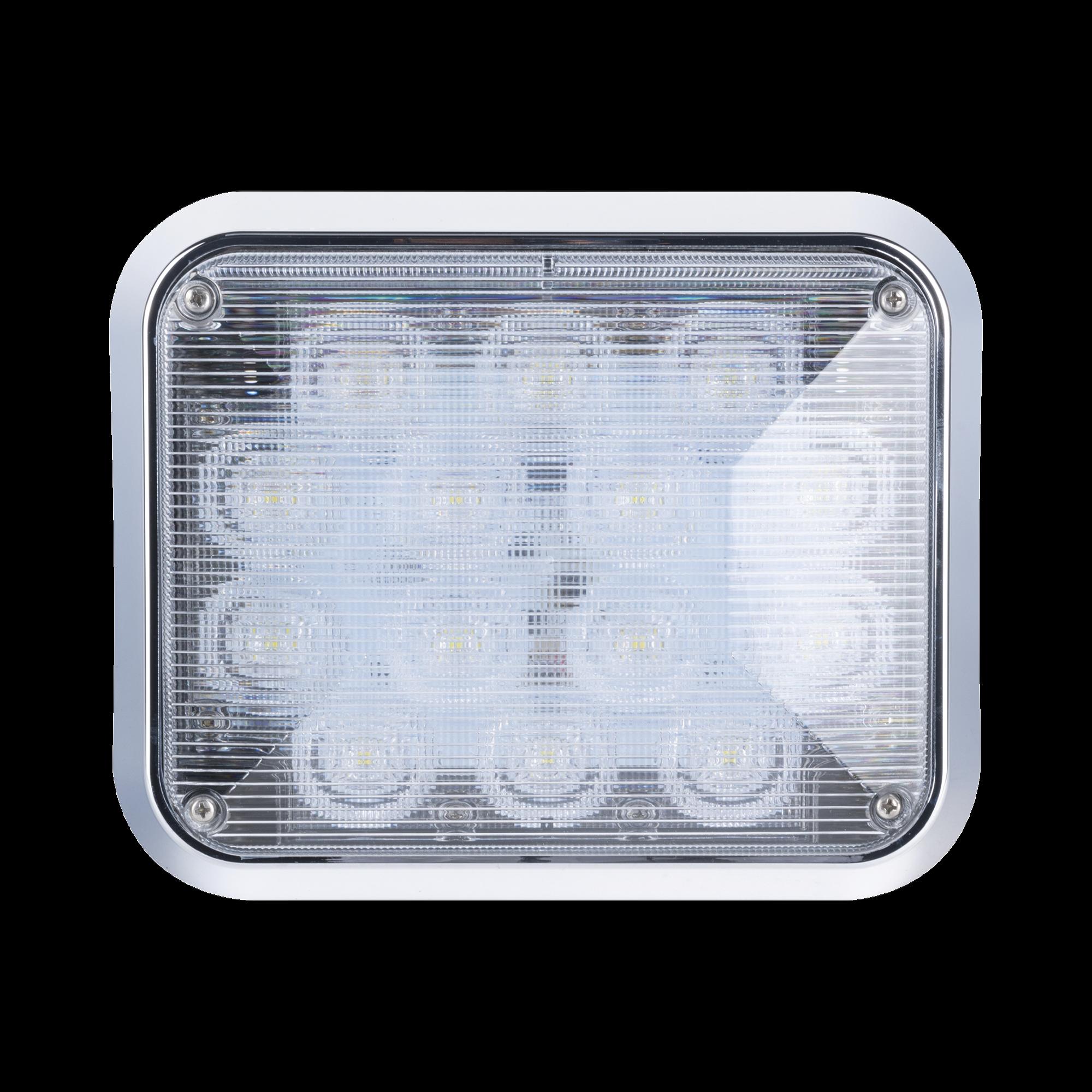 Luz perimetral LED claro 7x9 con bisel color blanco