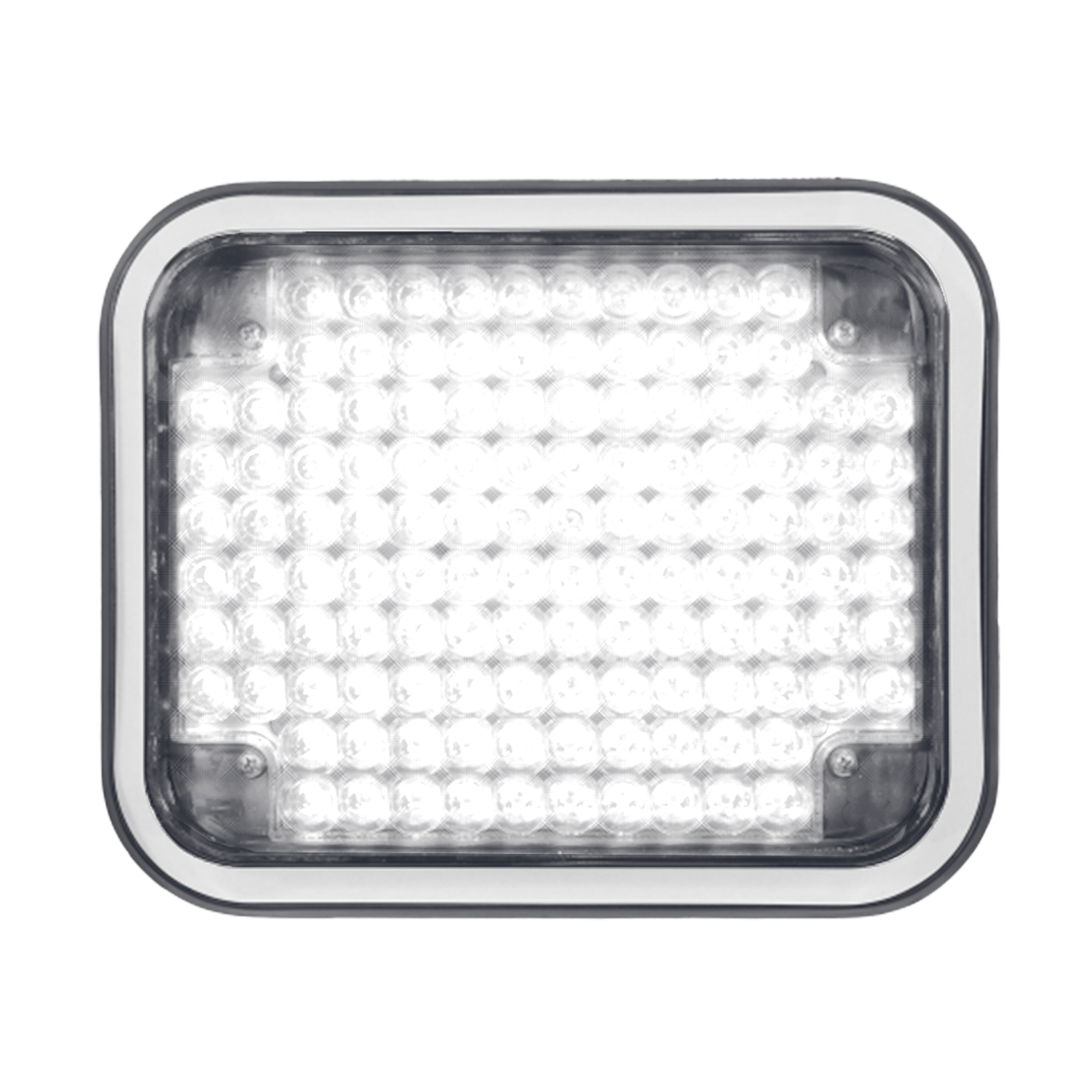 Luz perimetral LED claro 7x9 con bisel color blanco