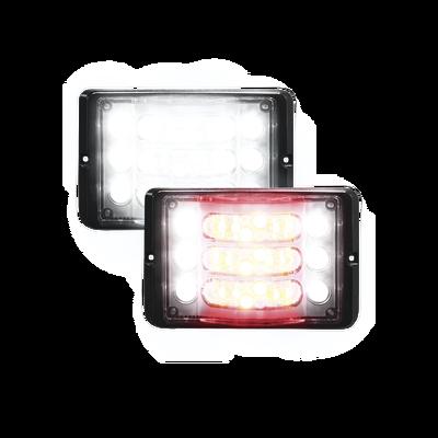 Luz direccional de 3 niveles rojo/claro