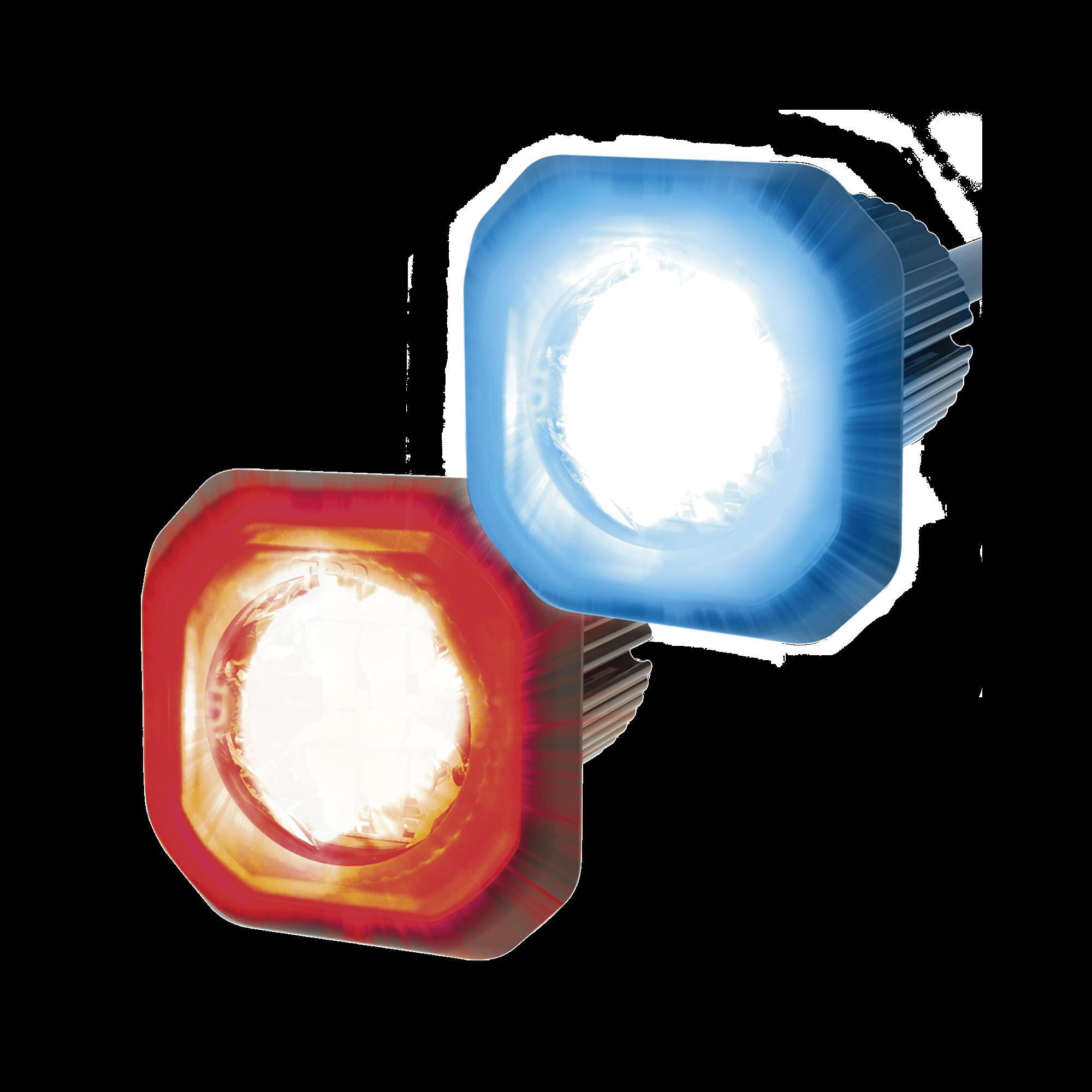 Lámpara Oculta de LED de bajo perfil color dual rojo azul