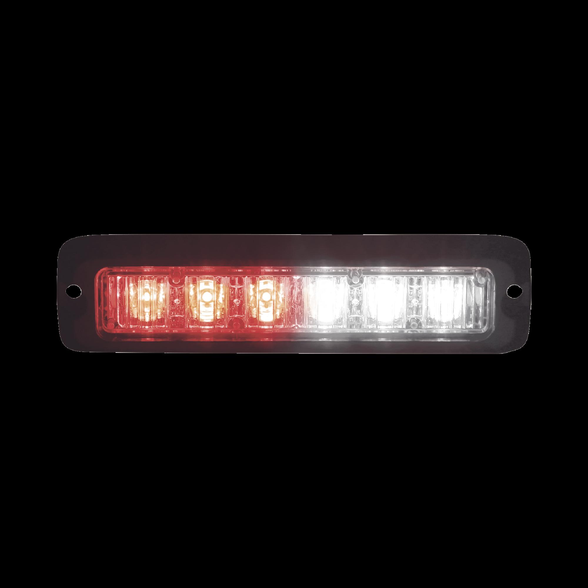 Luz led perimetral MR6 rojo / claro con soporte para empotrar