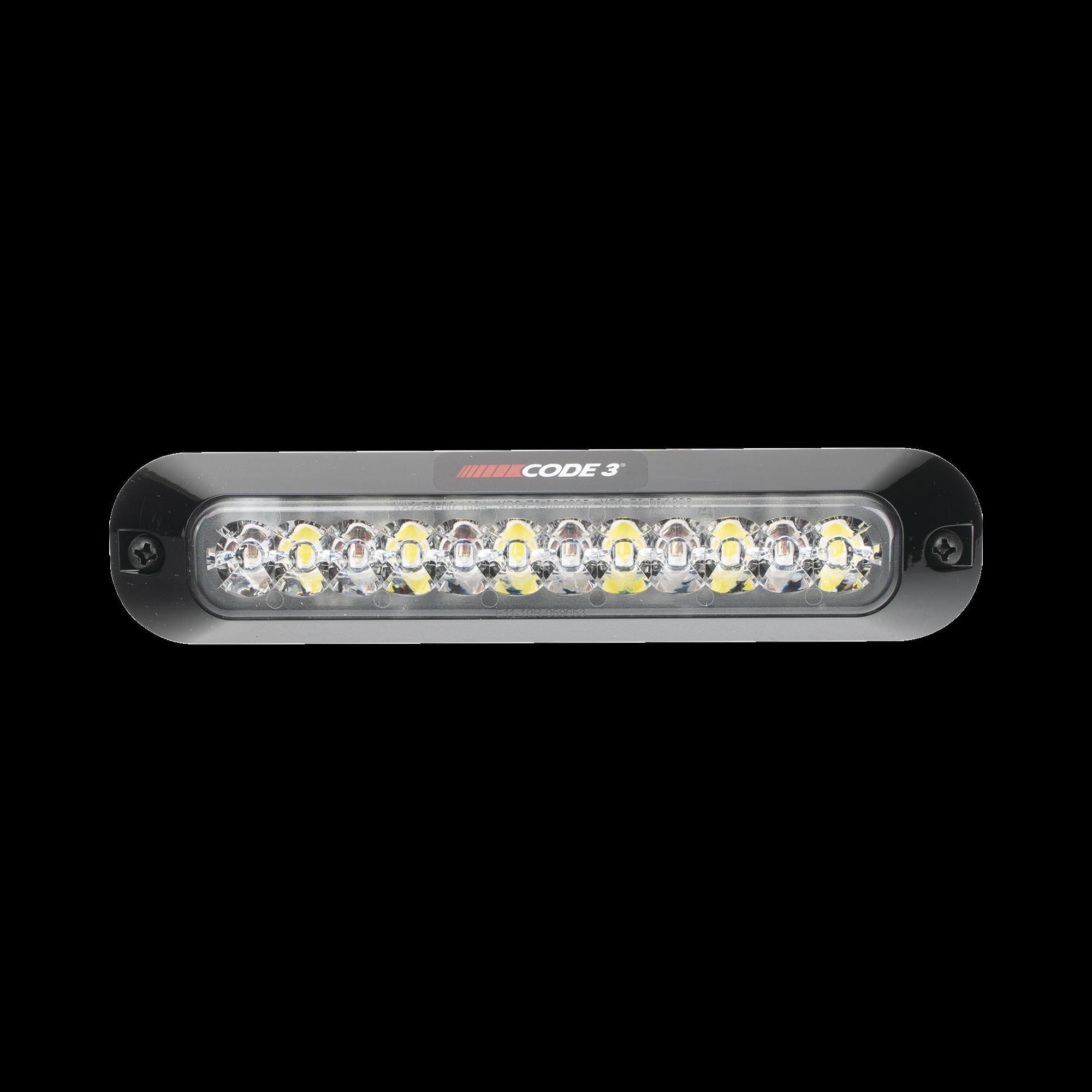 Luz Auxiliar Serie X3705, 6 LEDs Ultra Brillantes, multicolor Rojo / Claro