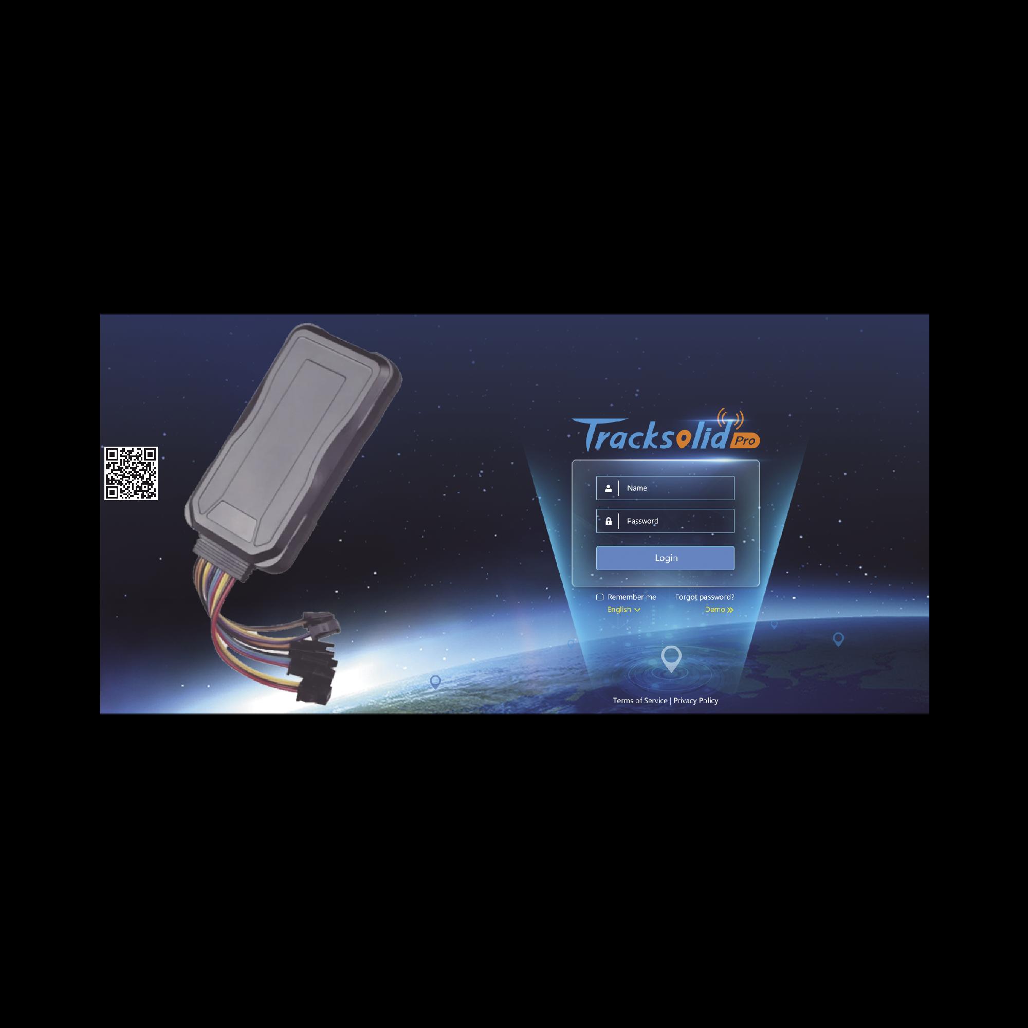 Kit de localizador vehicular que incluye un GPS modelo GT06E + Primera licencia de plataforma TRACKSOLID