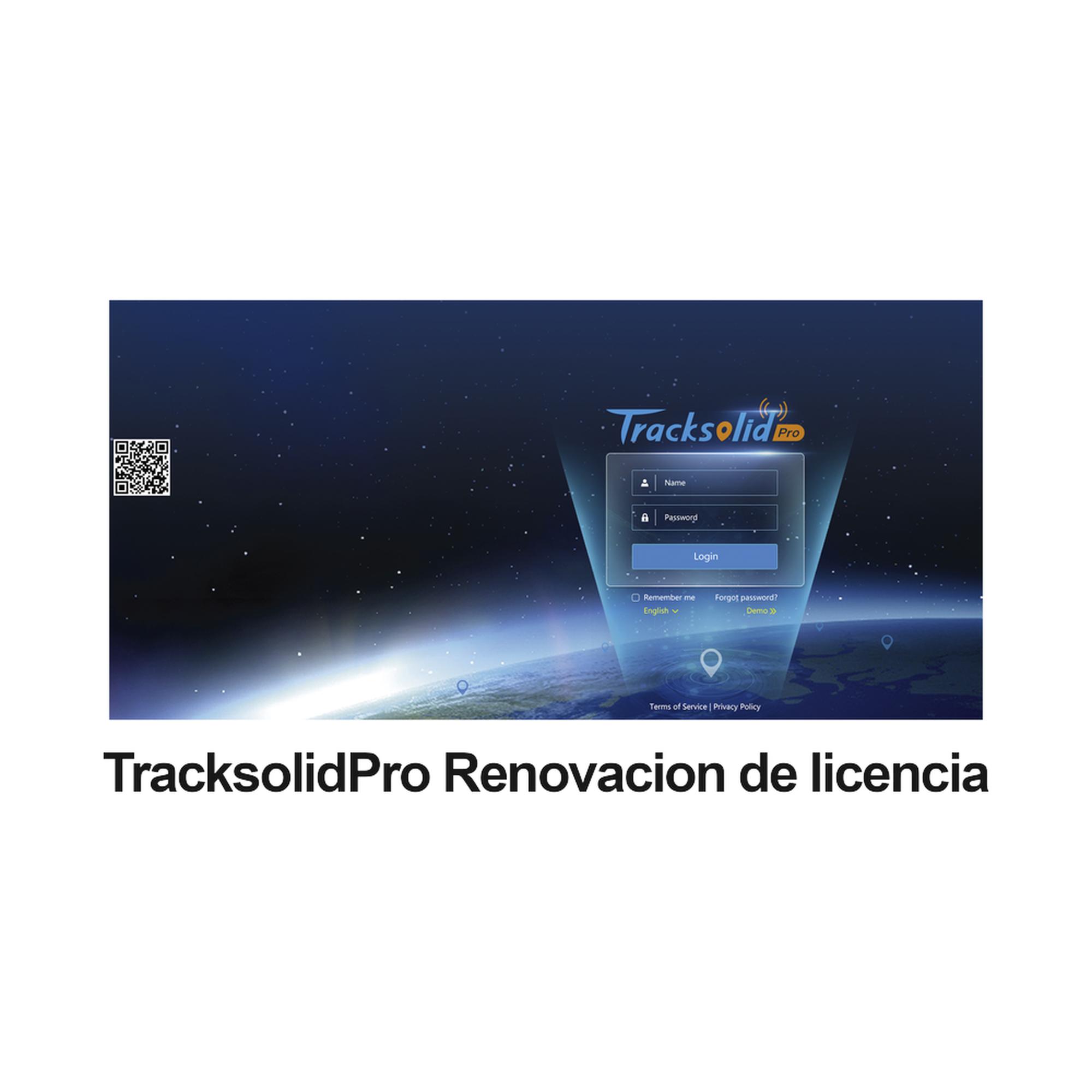 Renovación de licencia de video para plataforma Tracksolid