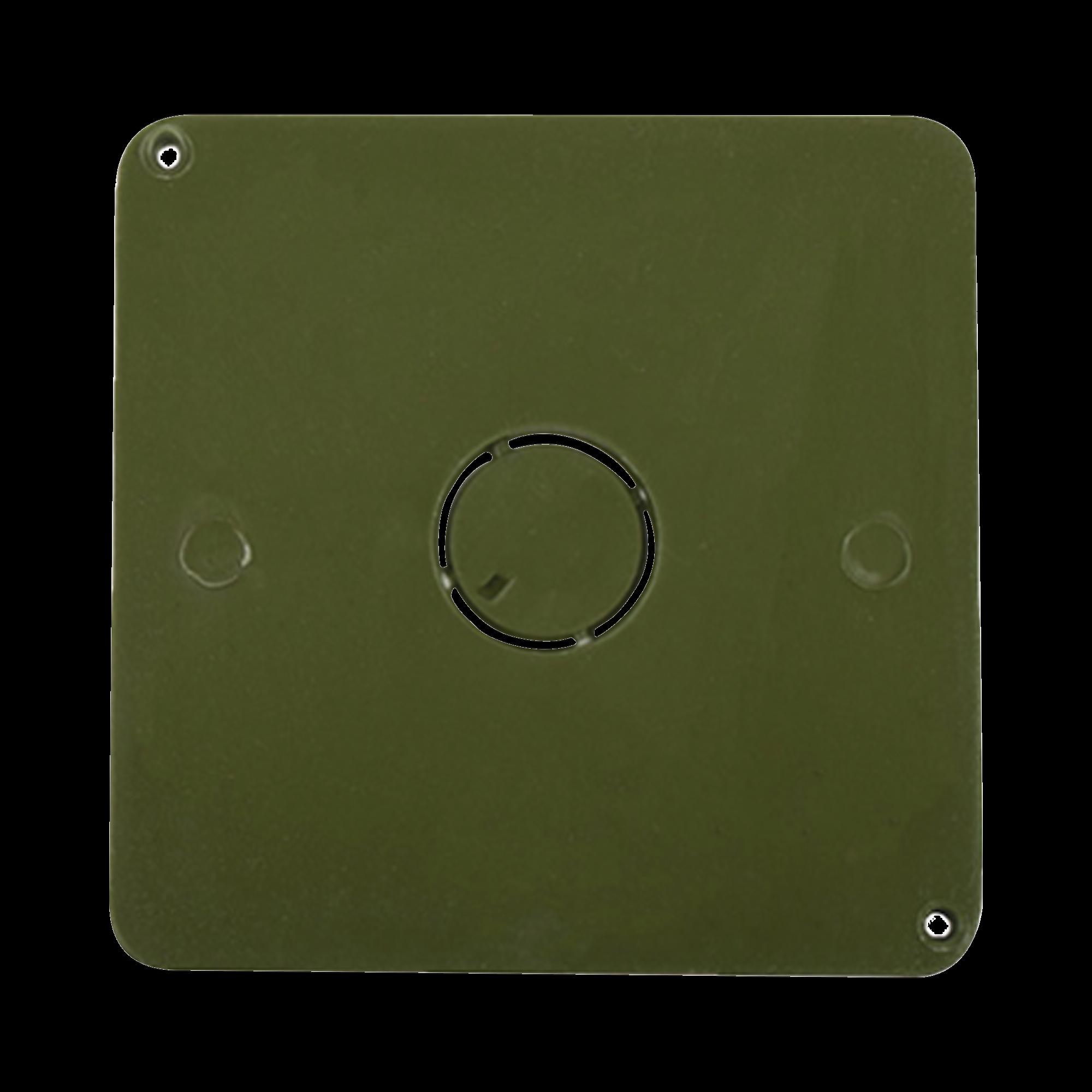 Tapa para caja cuadrada de 1  para instalaciones con tubería PVC Conduit pesado