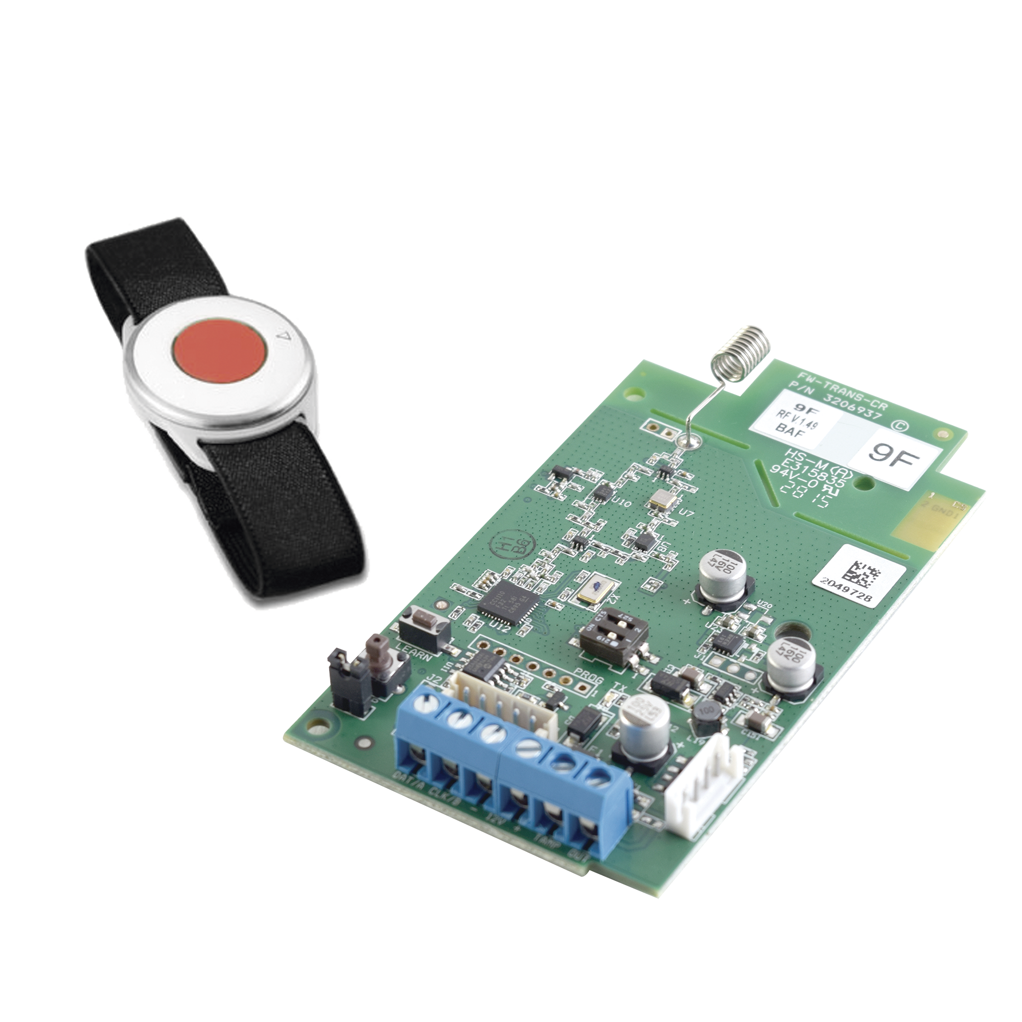 Kit de Transceptor Inalámbrico 916MHz. 2 Vías y Botón de Pánico compatible con panel Crow